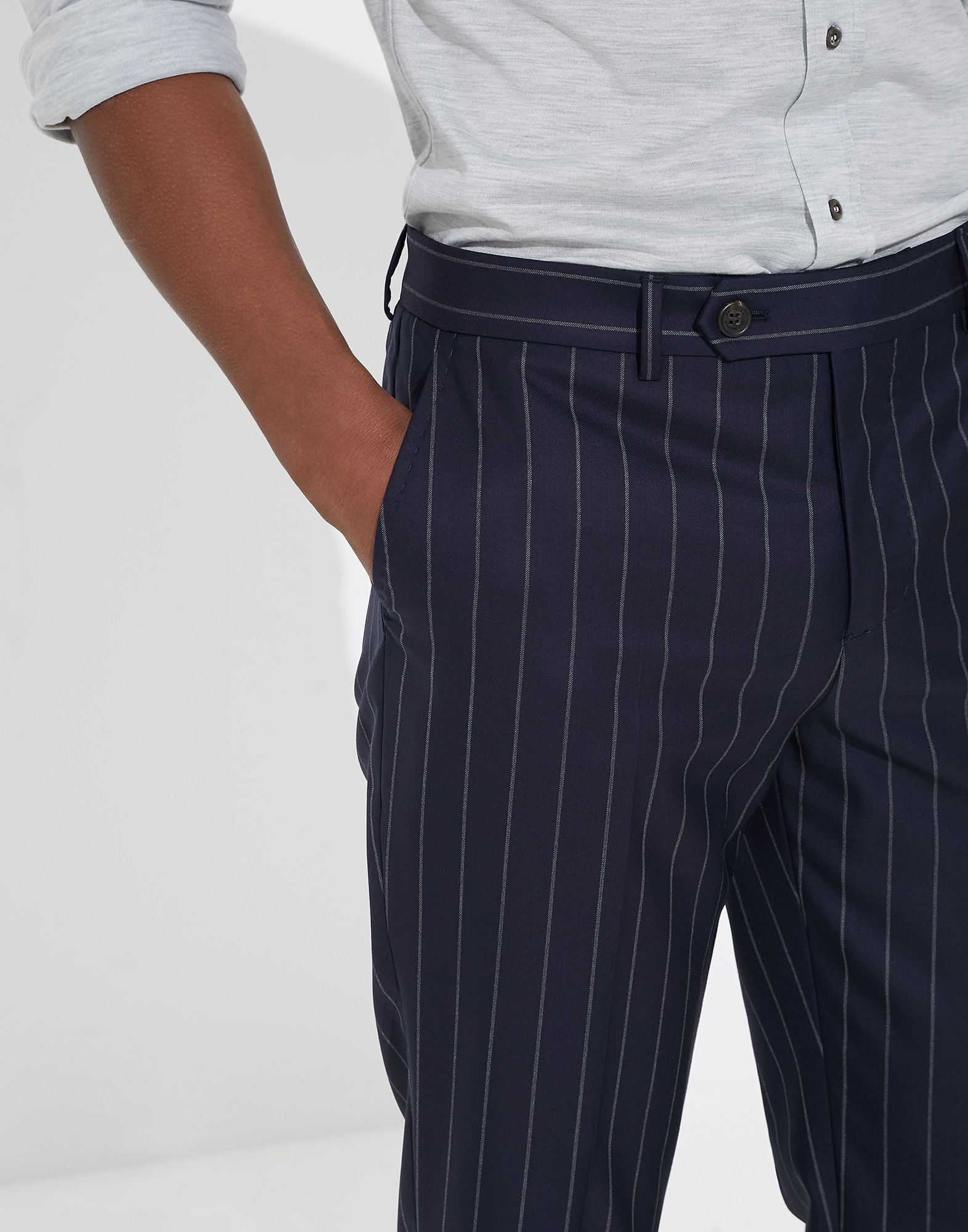 Trousers Blue Man 2 - Brunello Cucinelli
