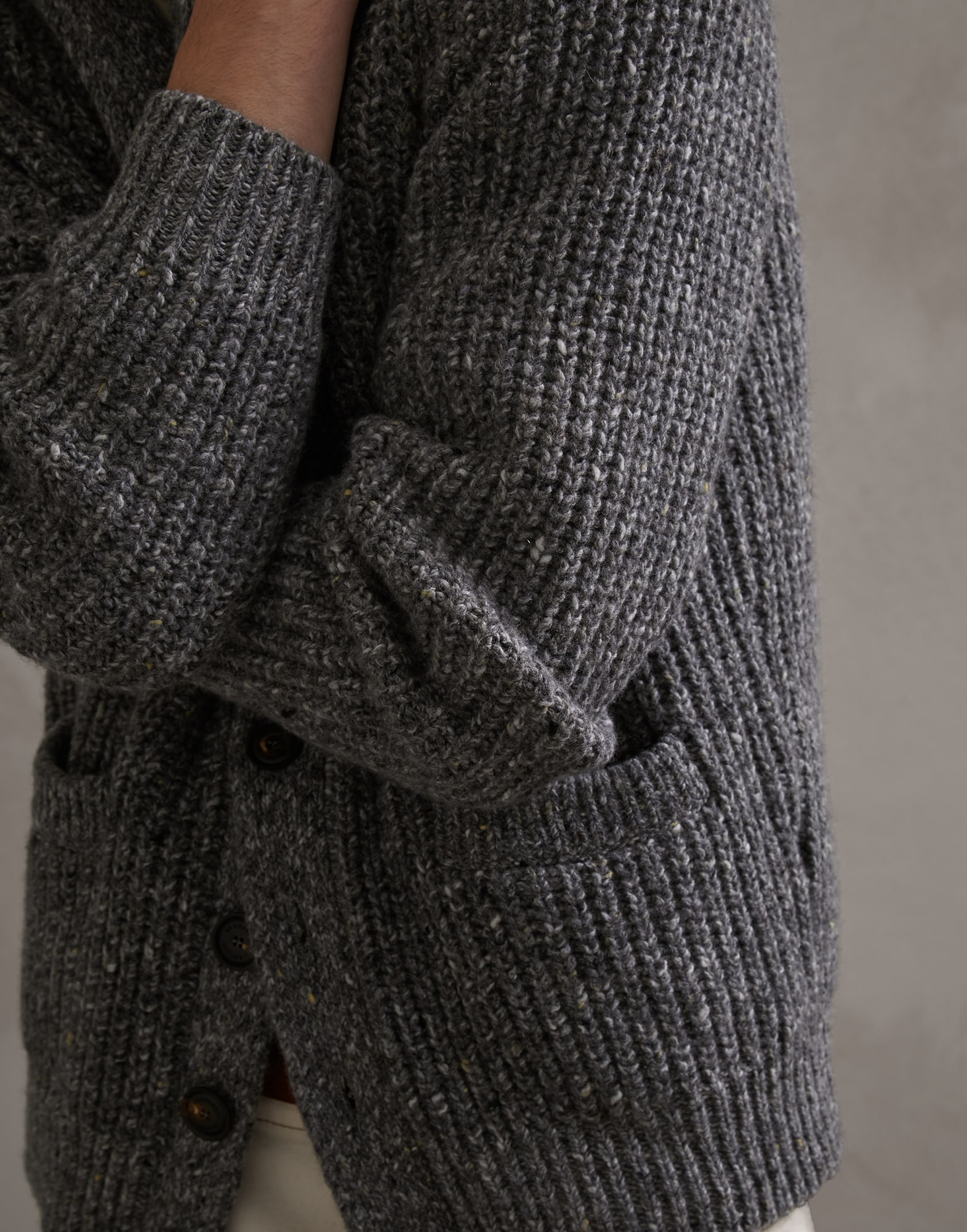 Button-front Cardigan - Detail