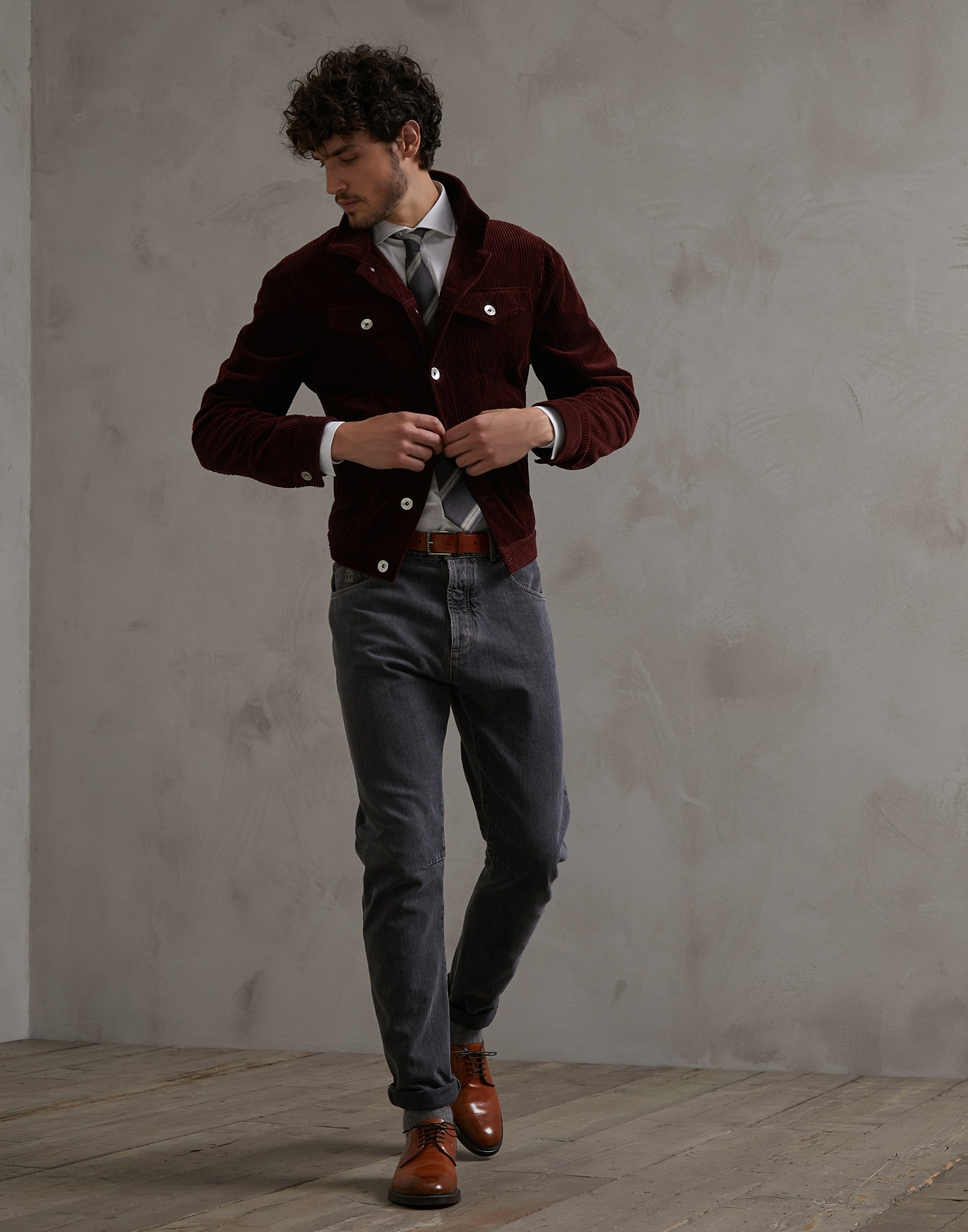 French Collar Shirt - Full look