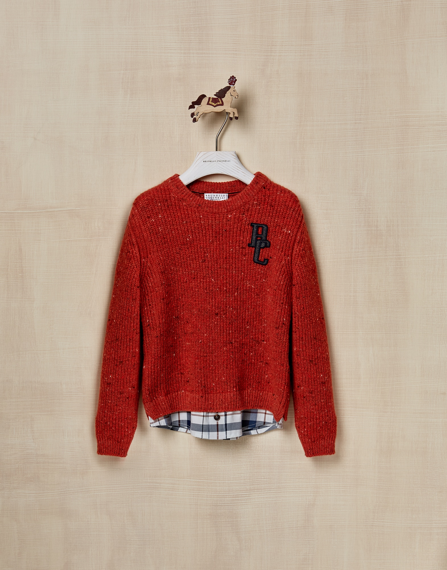 Crewneck Sweater Carrot Boy 1 - Brunello Cucinelli