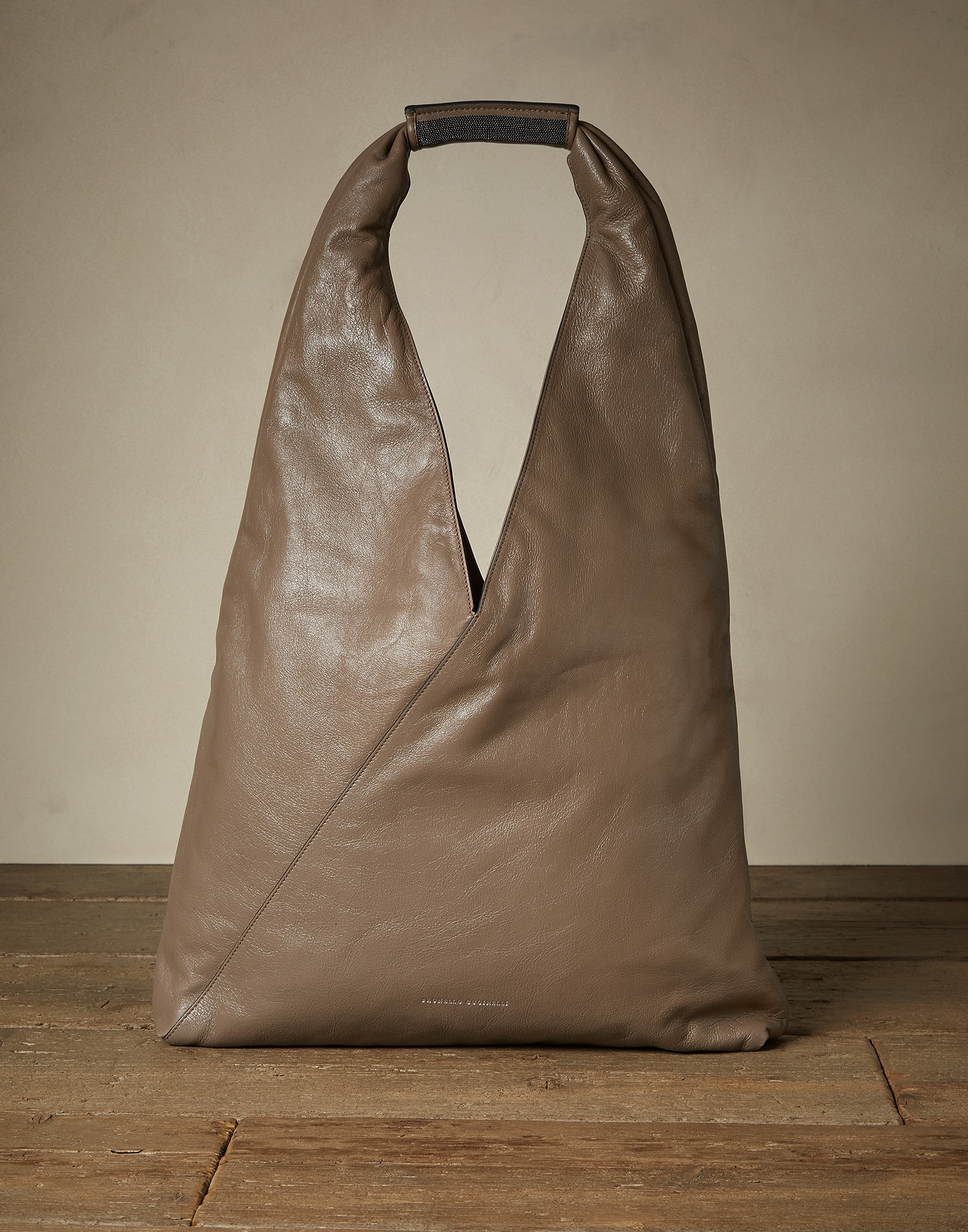 Shopper Bag Mud Woman 0 - Brunello Cucinelli