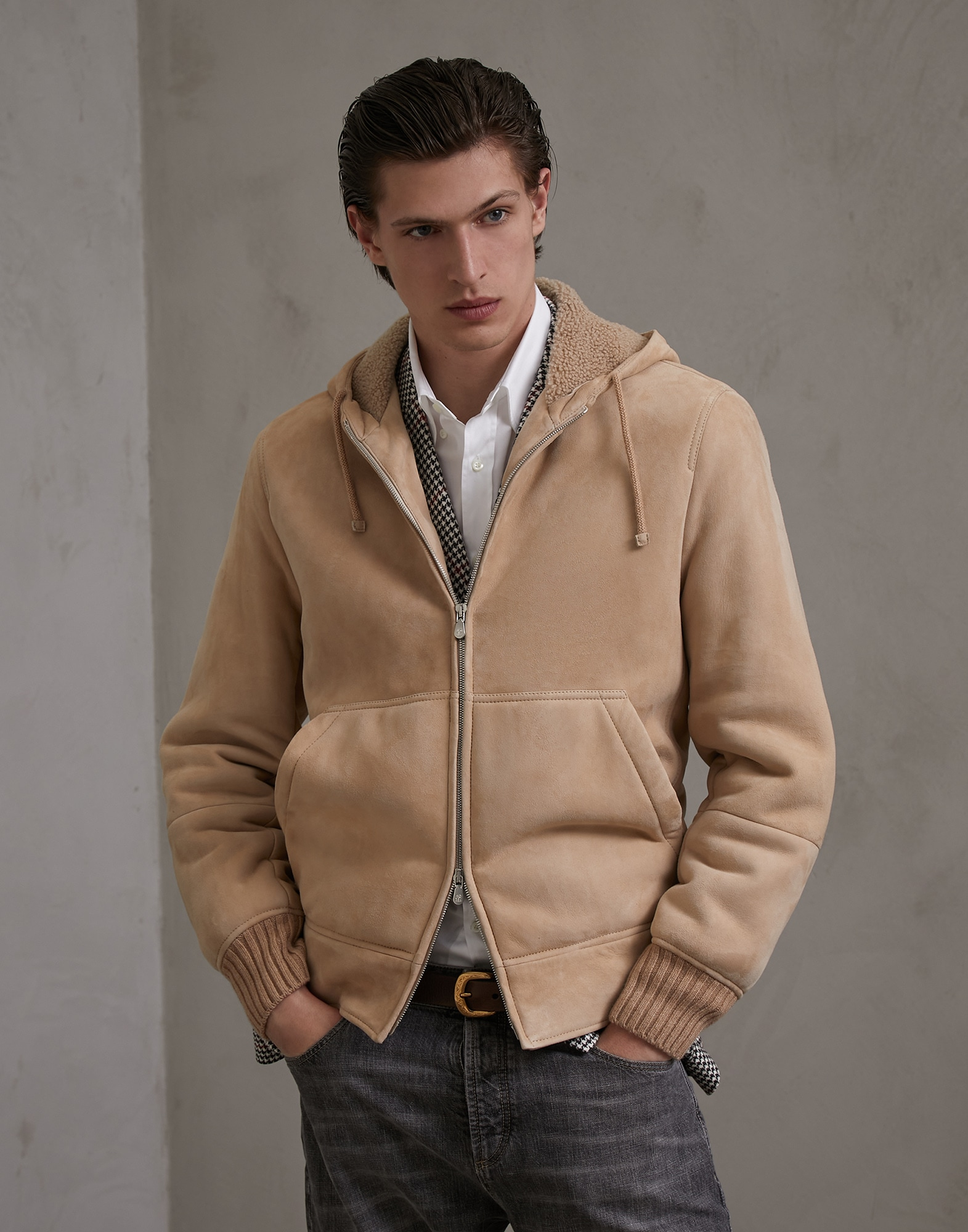 Leather Biscuit Man 1 - Brunello Cucinelli