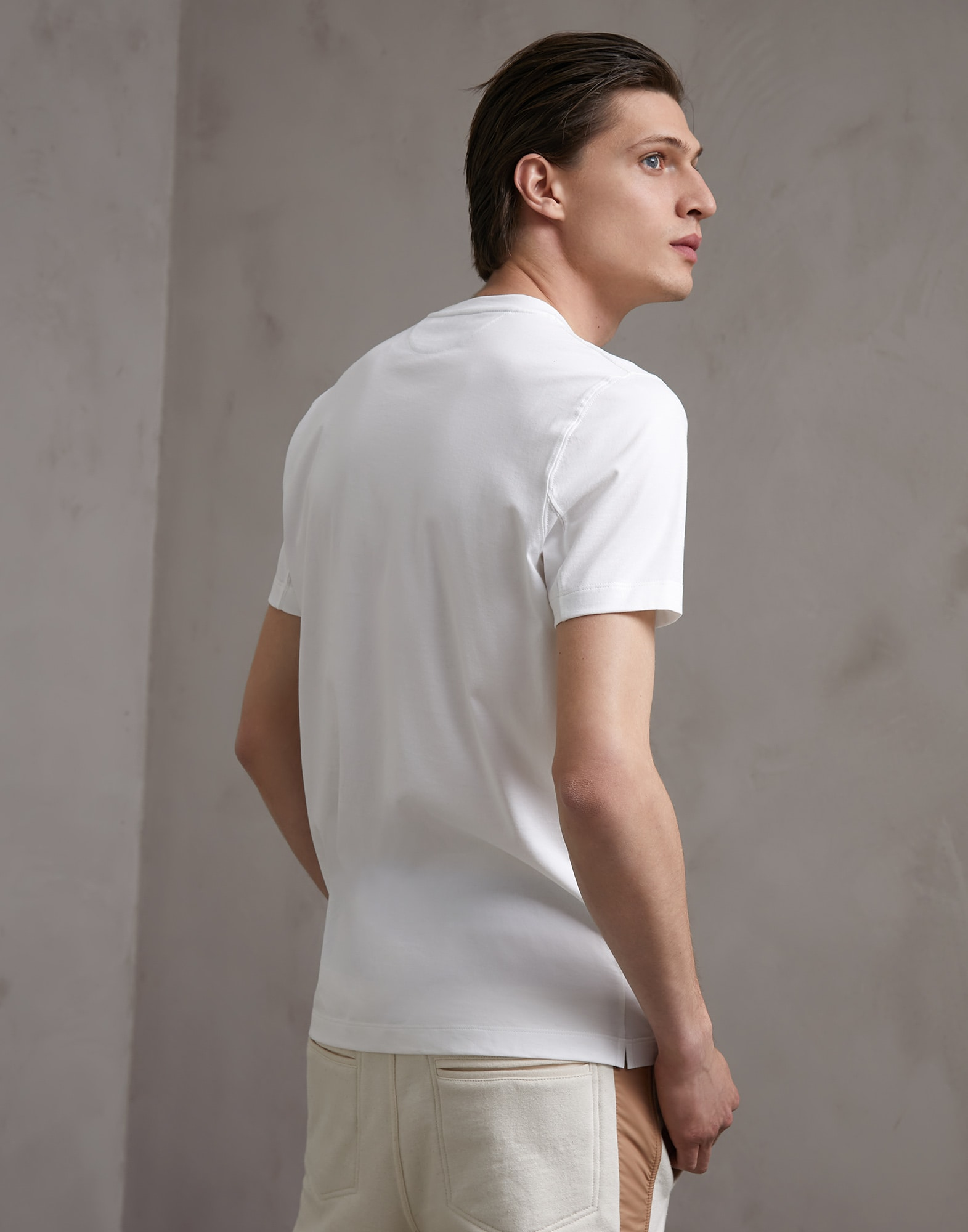Short Sleeve T-Shirt White Man 2 - Brunello Cucinelli