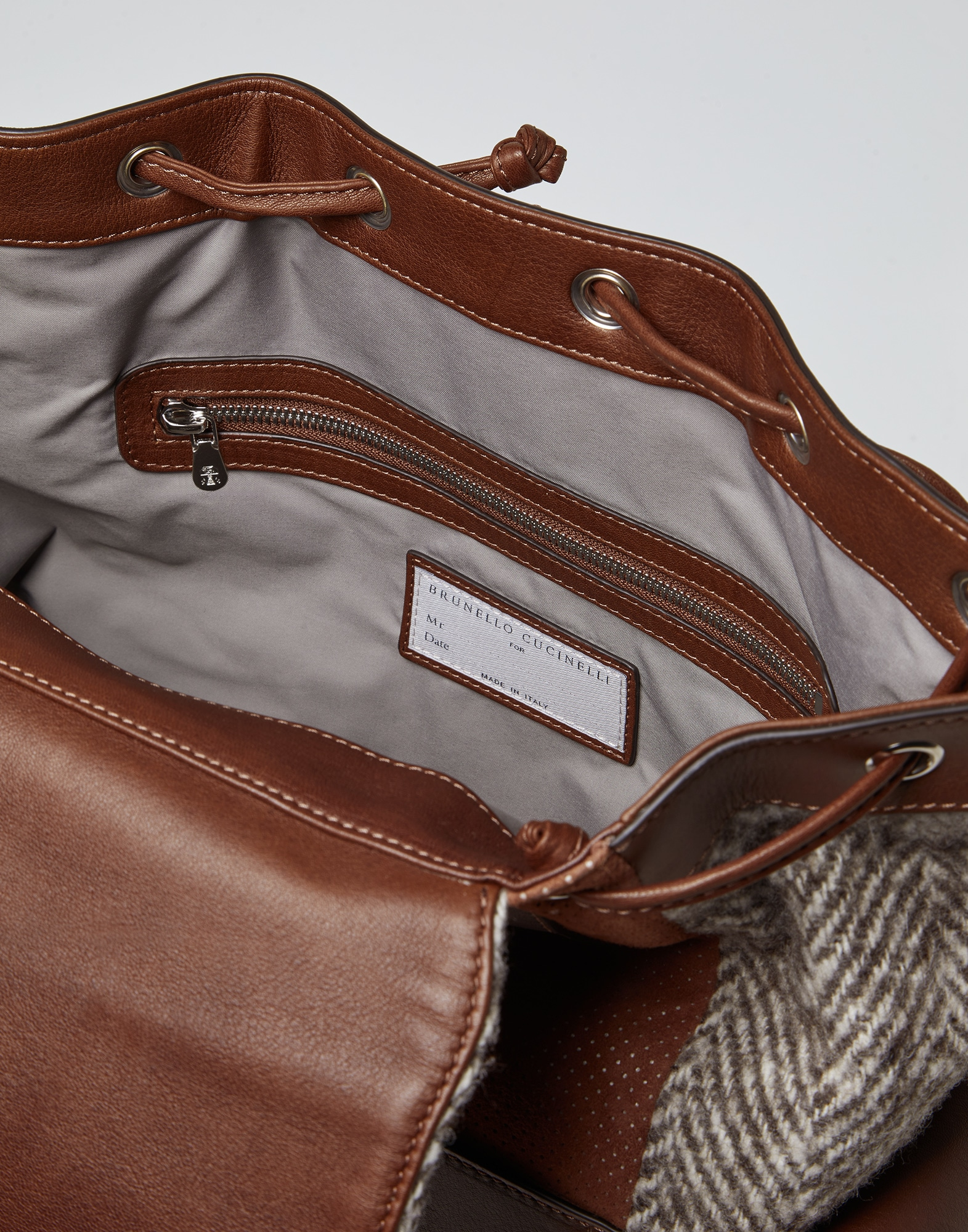 Backpack Brown Man 4 - Brunello Cucinelli