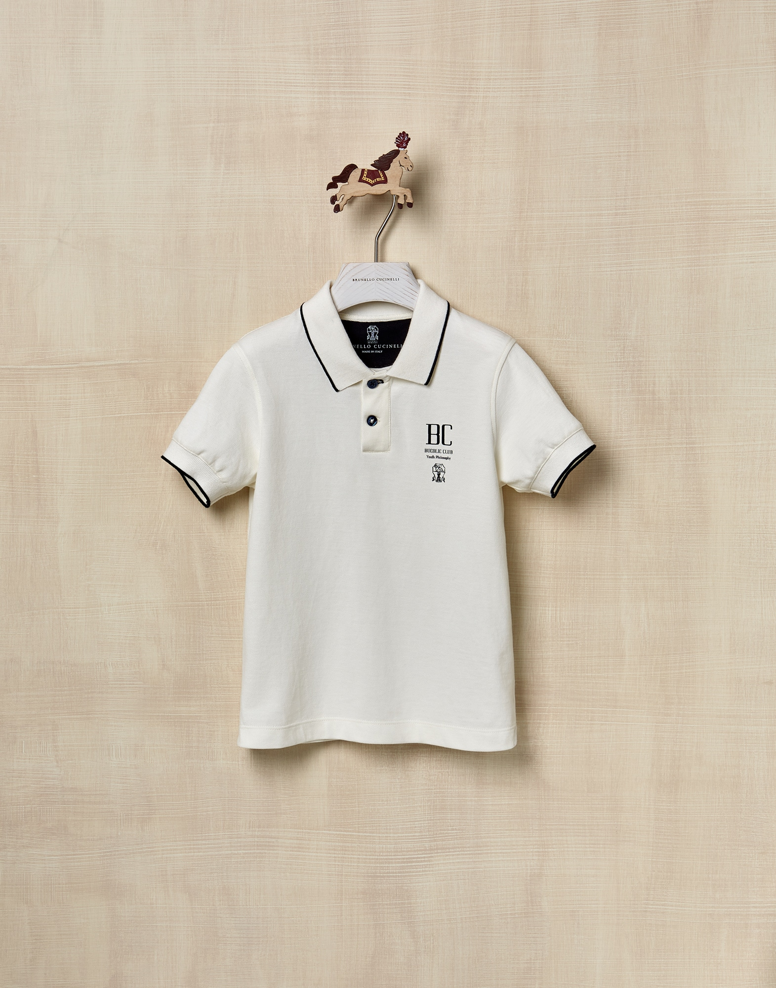 T-Shirt Off-White Boy 1 - Brunello Cucinelli