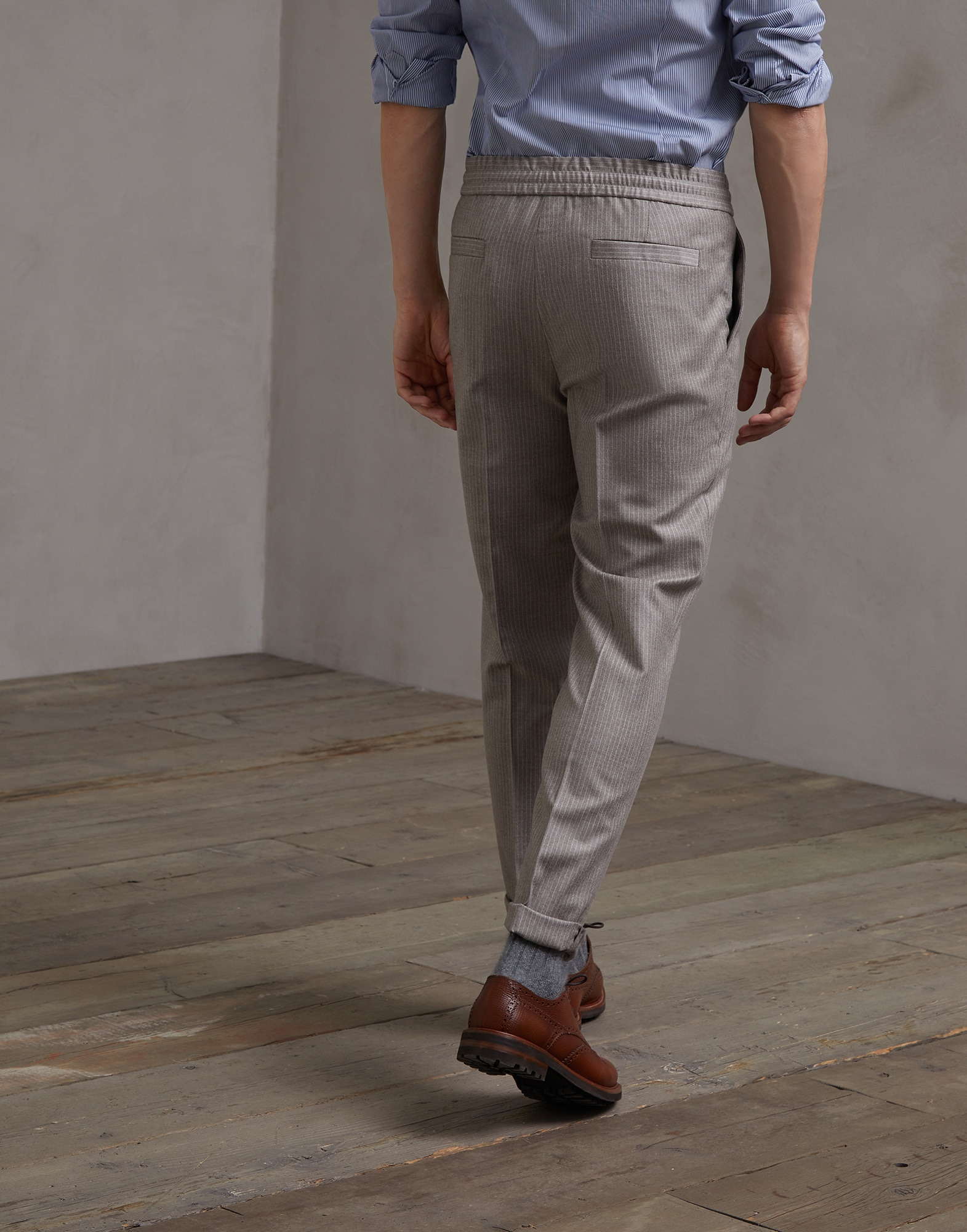 Trousers Brown Man 1 - Brunello Cucinelli