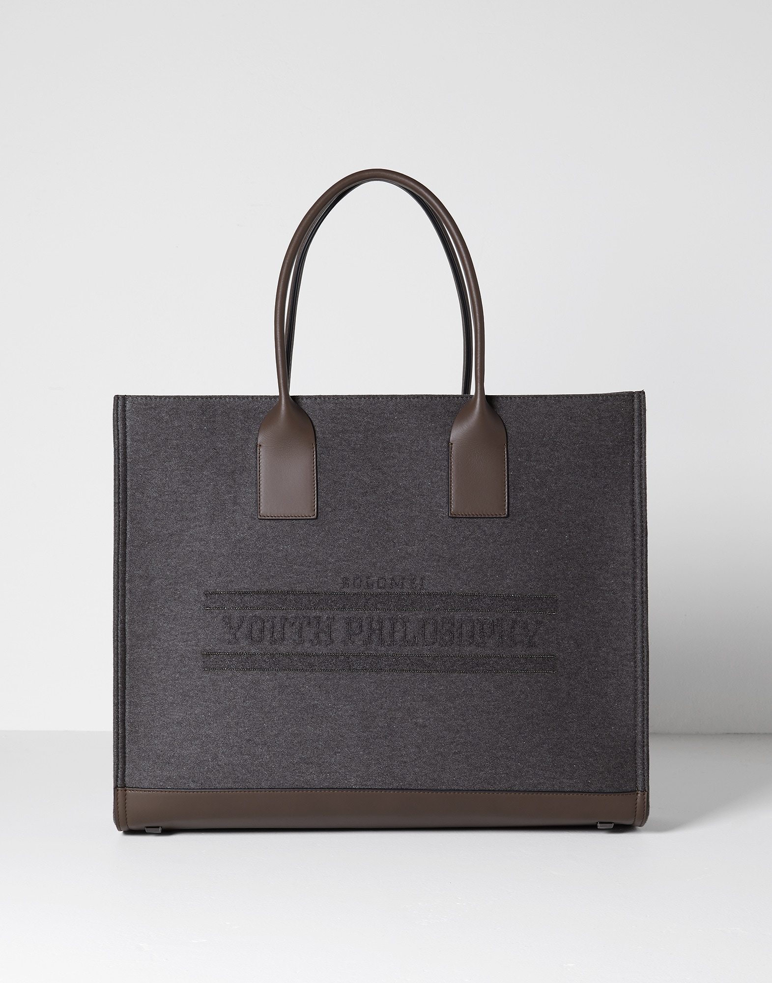 Shopper Bag Dark Grey Woman 0 - Brunello Cucinelli
