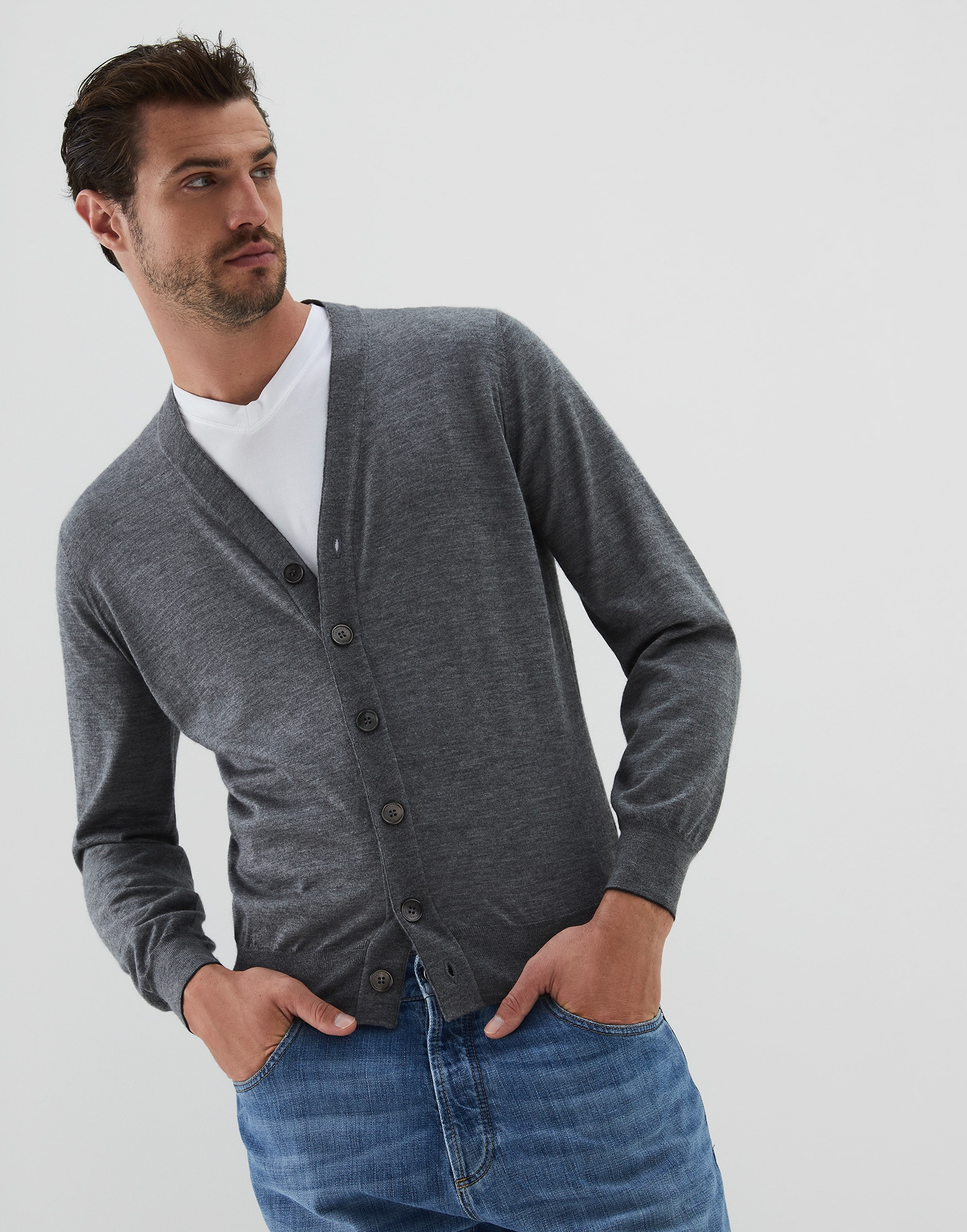 Button-front Cardigan - Front