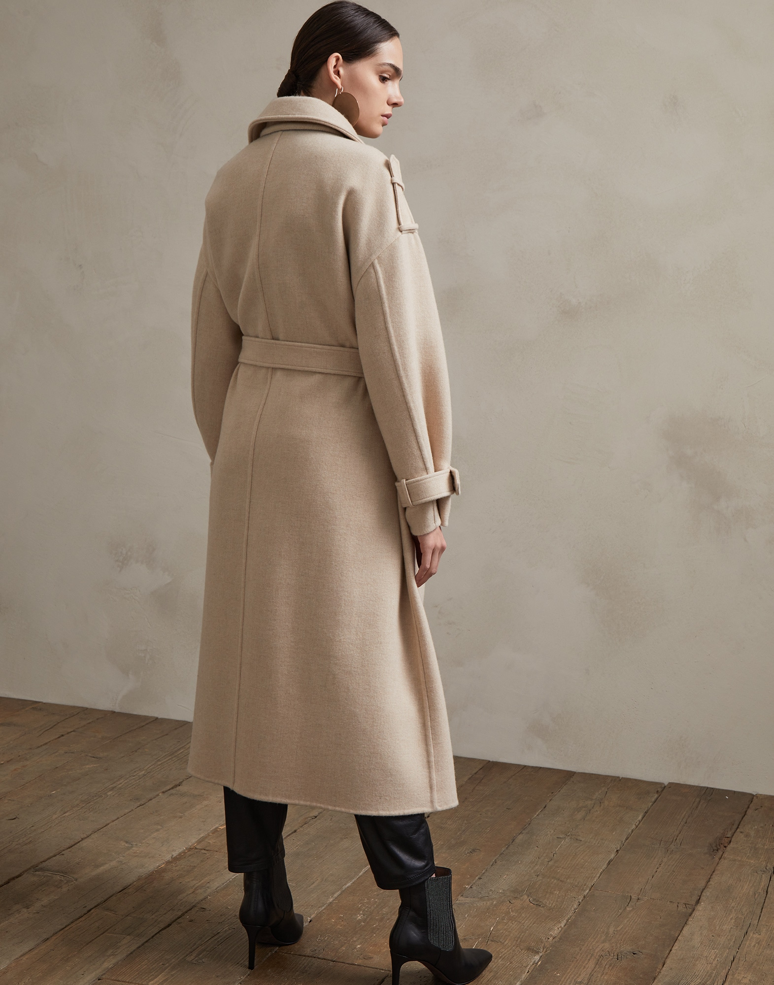 Coat Beige Woman 1 - Brunello Cucinelli