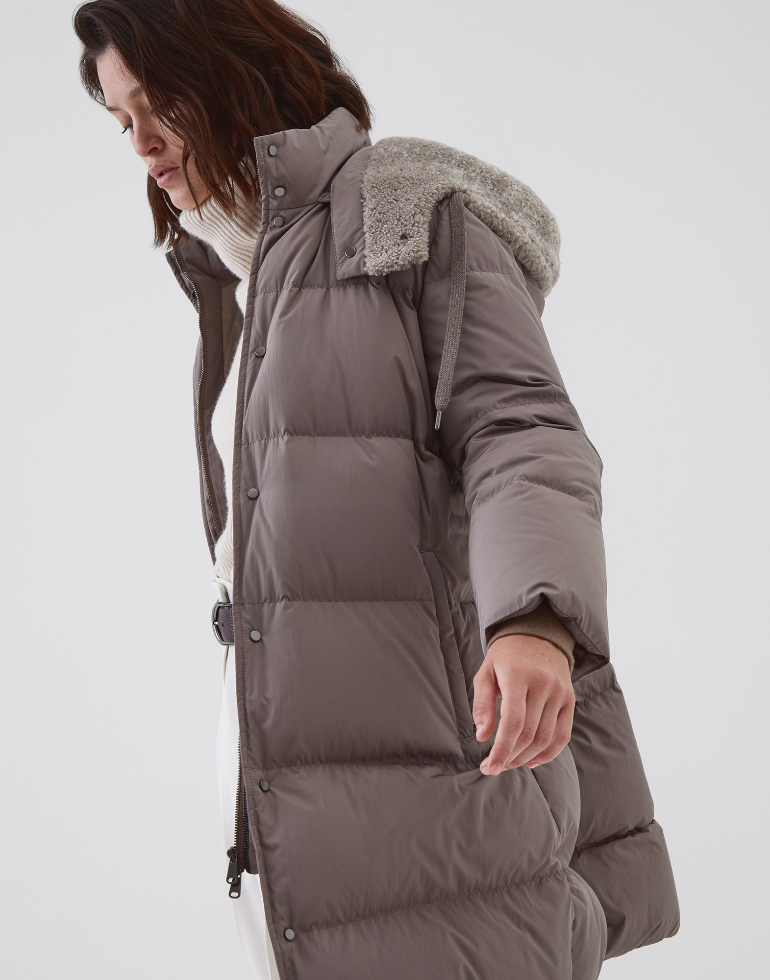 Down Jacket Mud Woman 4 - Brunello Cucinelli