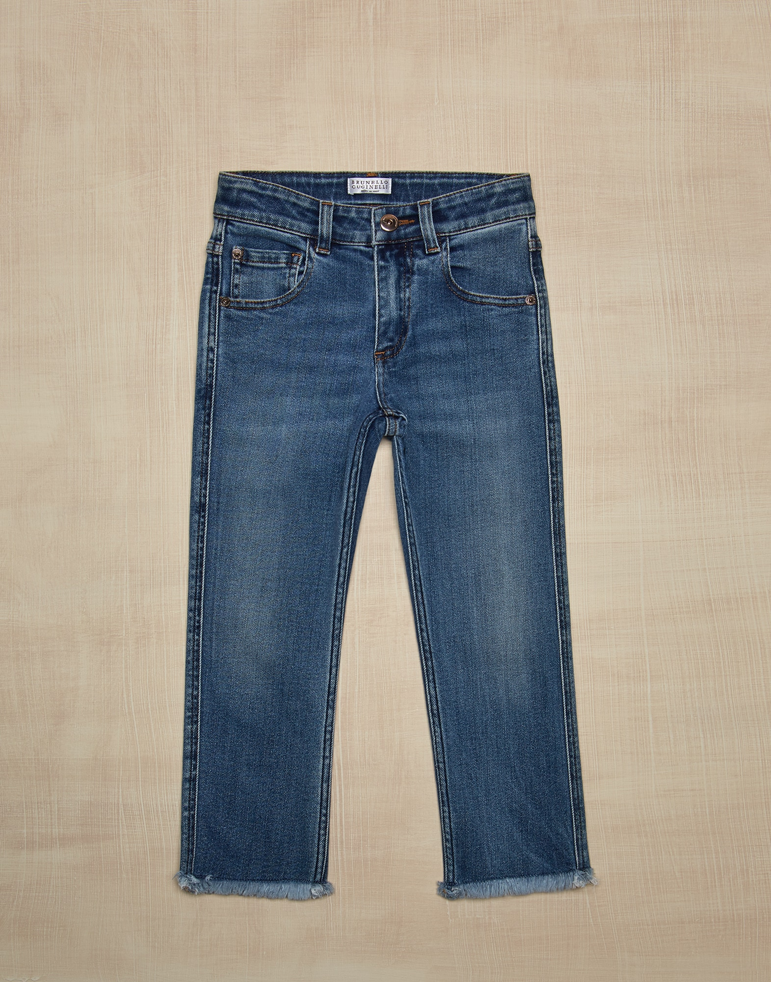 Denim Trousers Medium Denim Girl 0 - Brunello Cucinelli