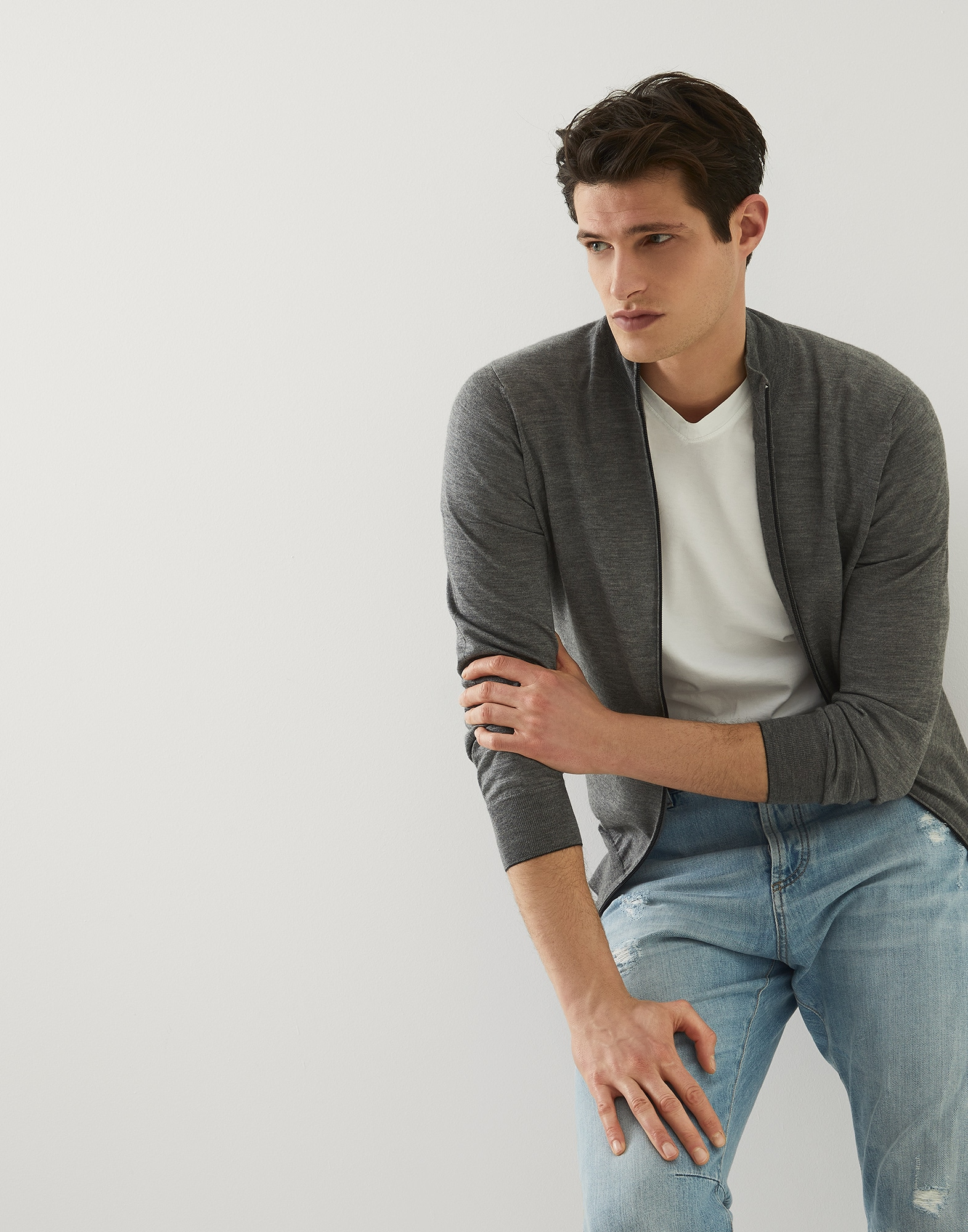 Zip-front Cardigan - Editorial view