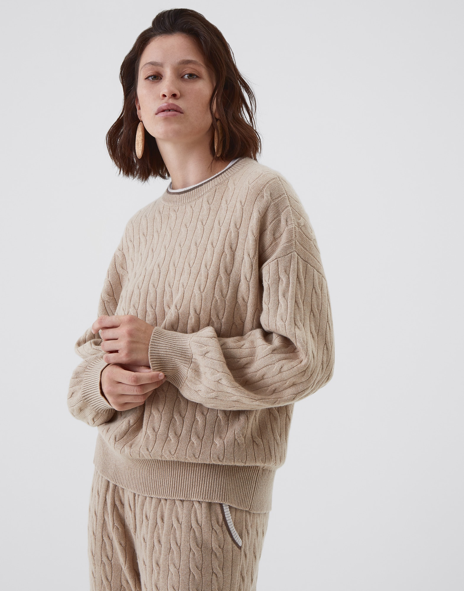 Sweatshirt Biscuit Woman 1 - Brunello Cucinelli