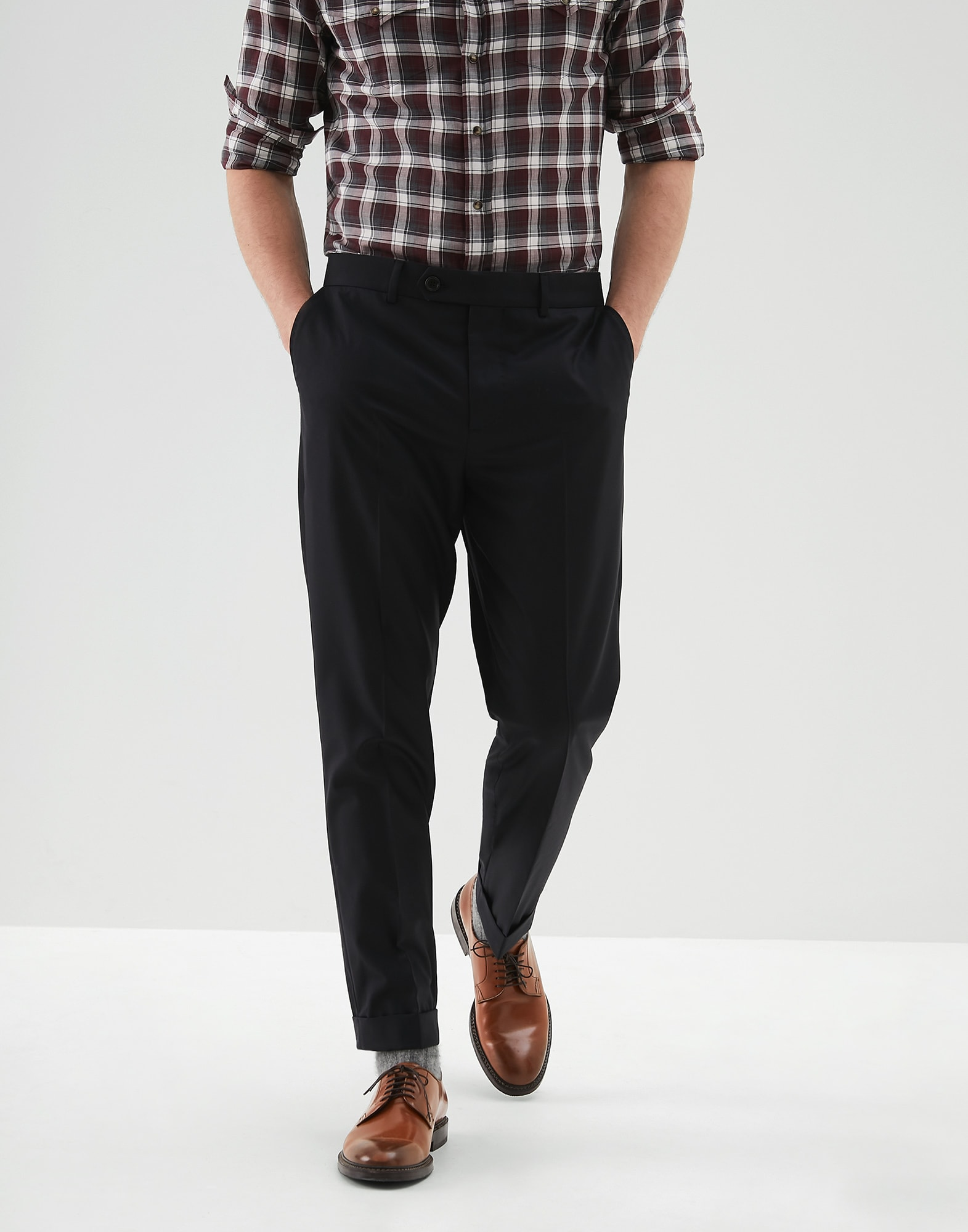 Trousers Black Man 0 - Brunello Cucinelli