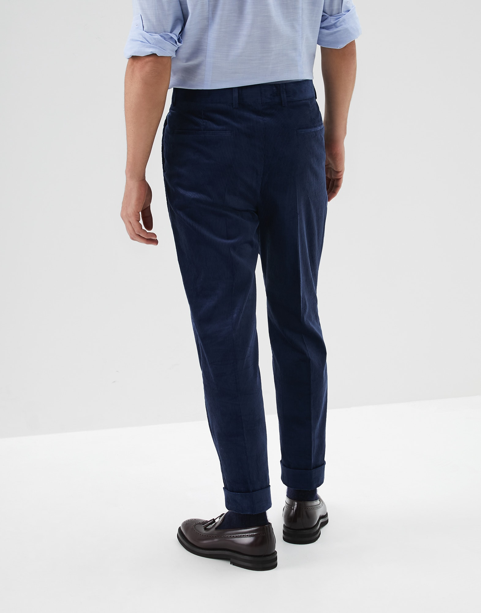 Trousers Blue Ford Man 1 - Brunello Cucinelli