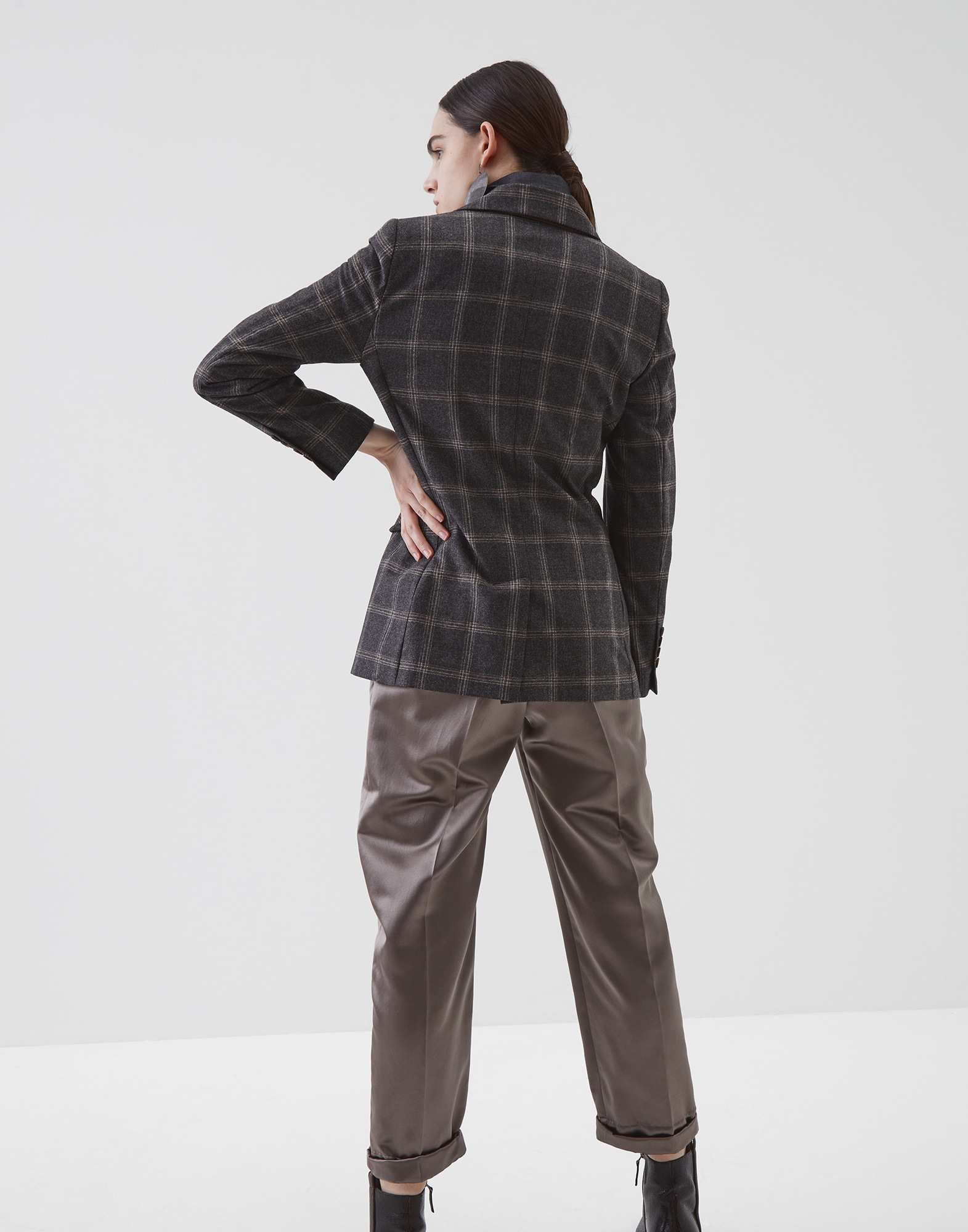 Blazer Medium Grey Woman 2 - Brunello Cucinelli