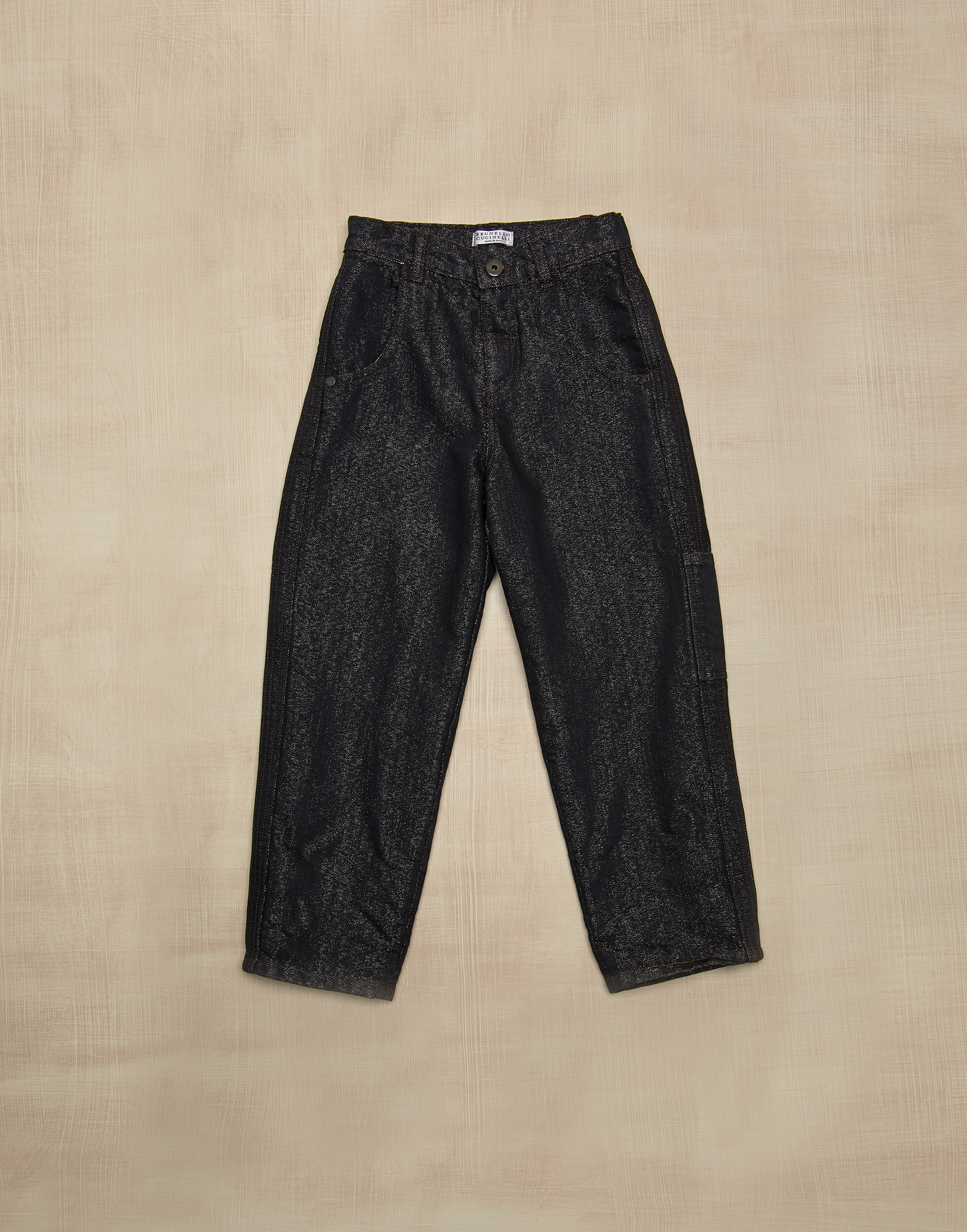 Denim Trousers Lignite Girl 0 - Brunello Cucinelli