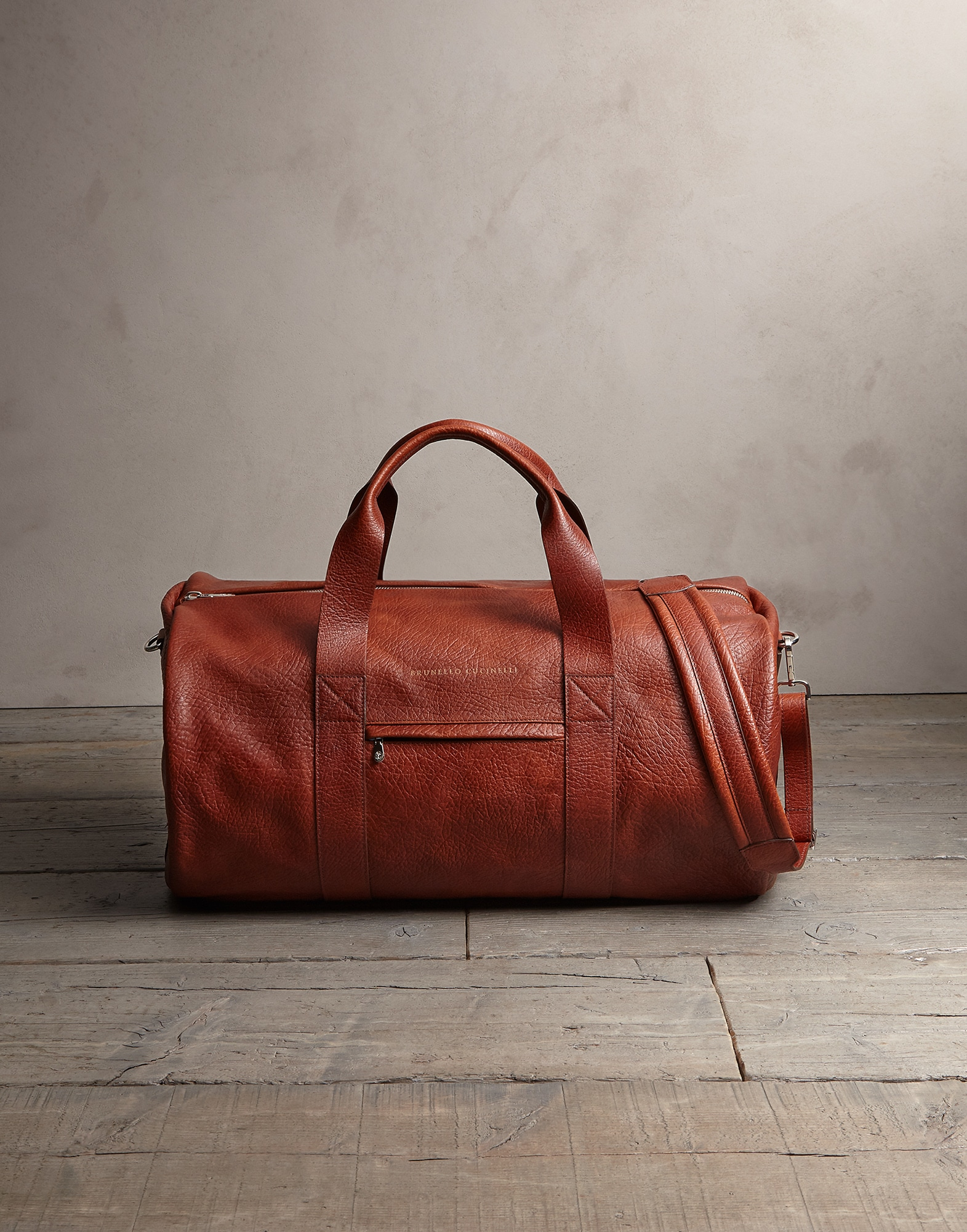 Leisure Bag Cognac Man 0 - Brunello Cucinelli