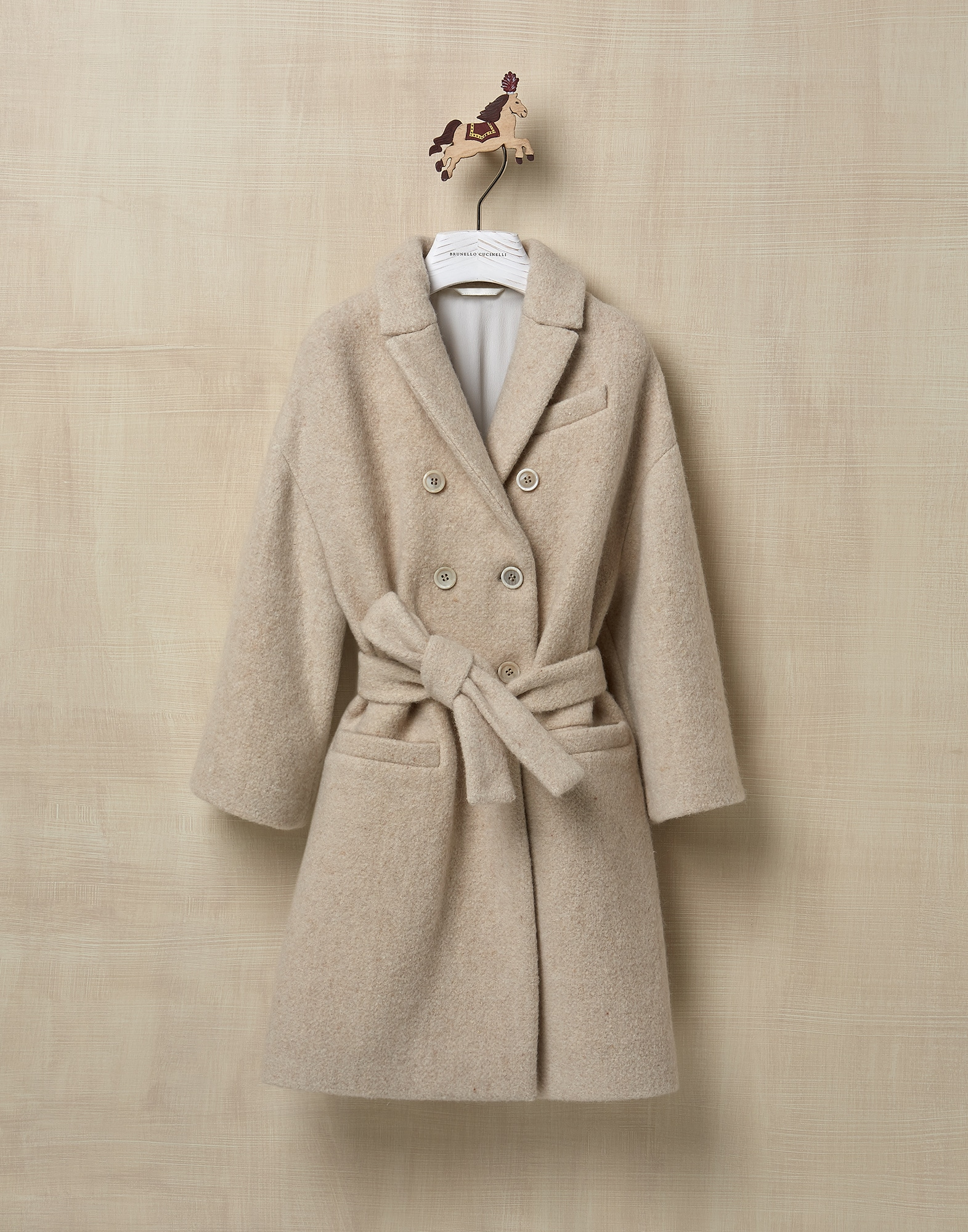 Coat Beige Girl 0 - Brunello Cucinelli