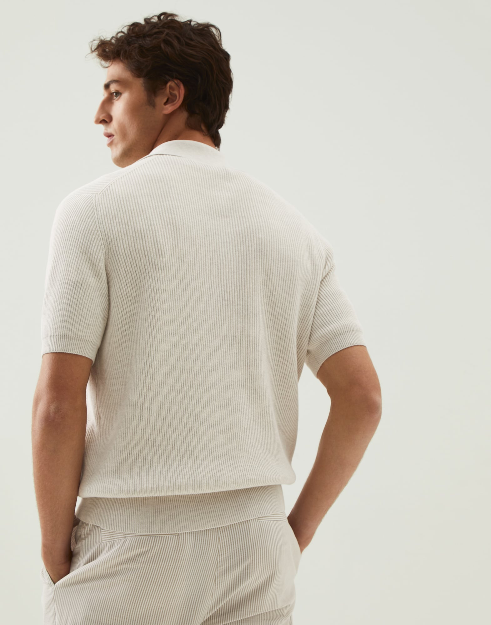 Polo-Style Sweater - Back view