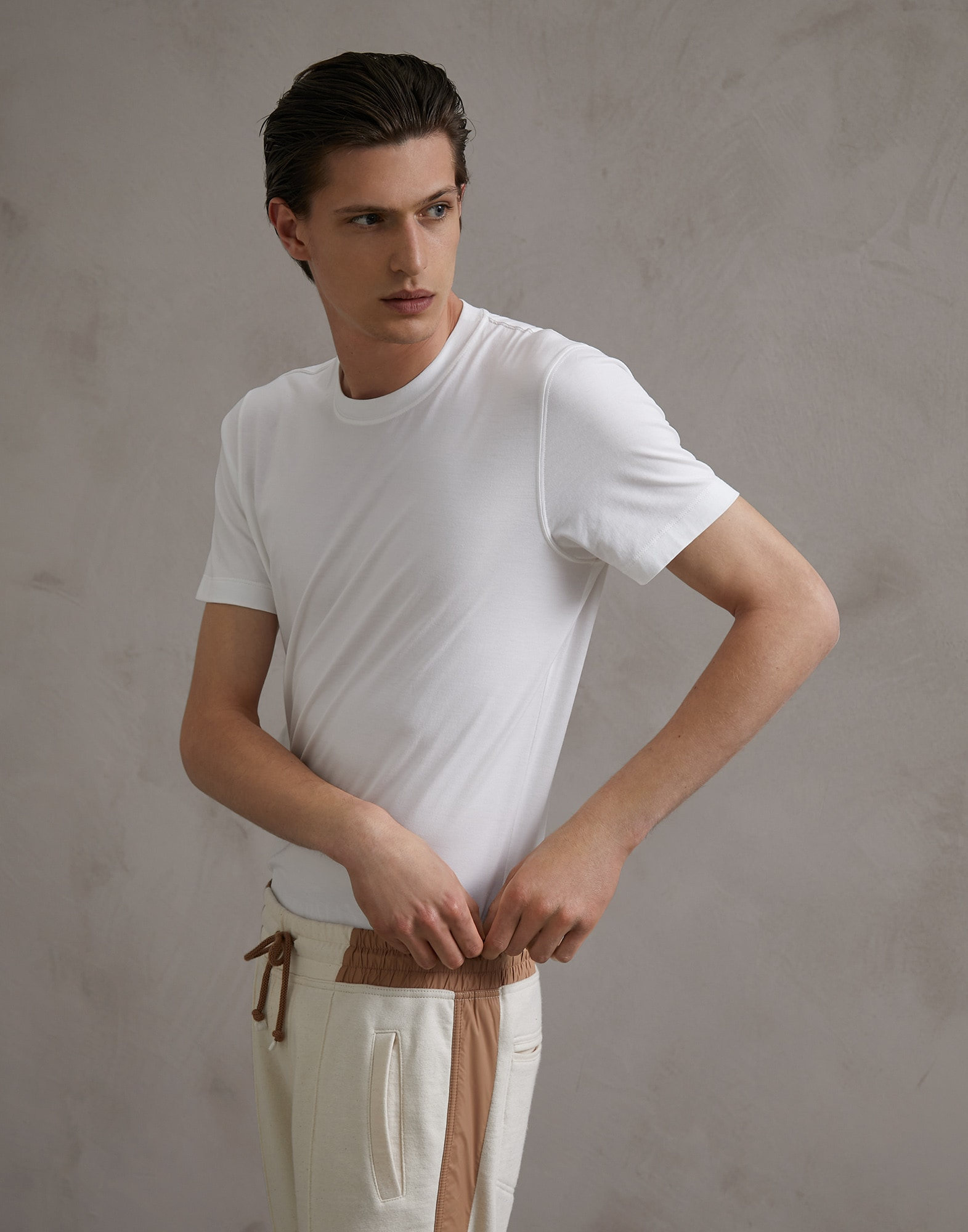 Short Sleeve T-Shirt White Man 0 - Brunello Cucinelli