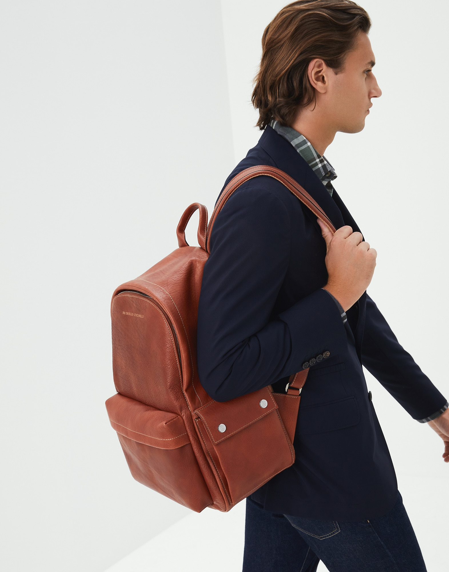 Backpack Rum Man 0 - Brunello Cucinelli