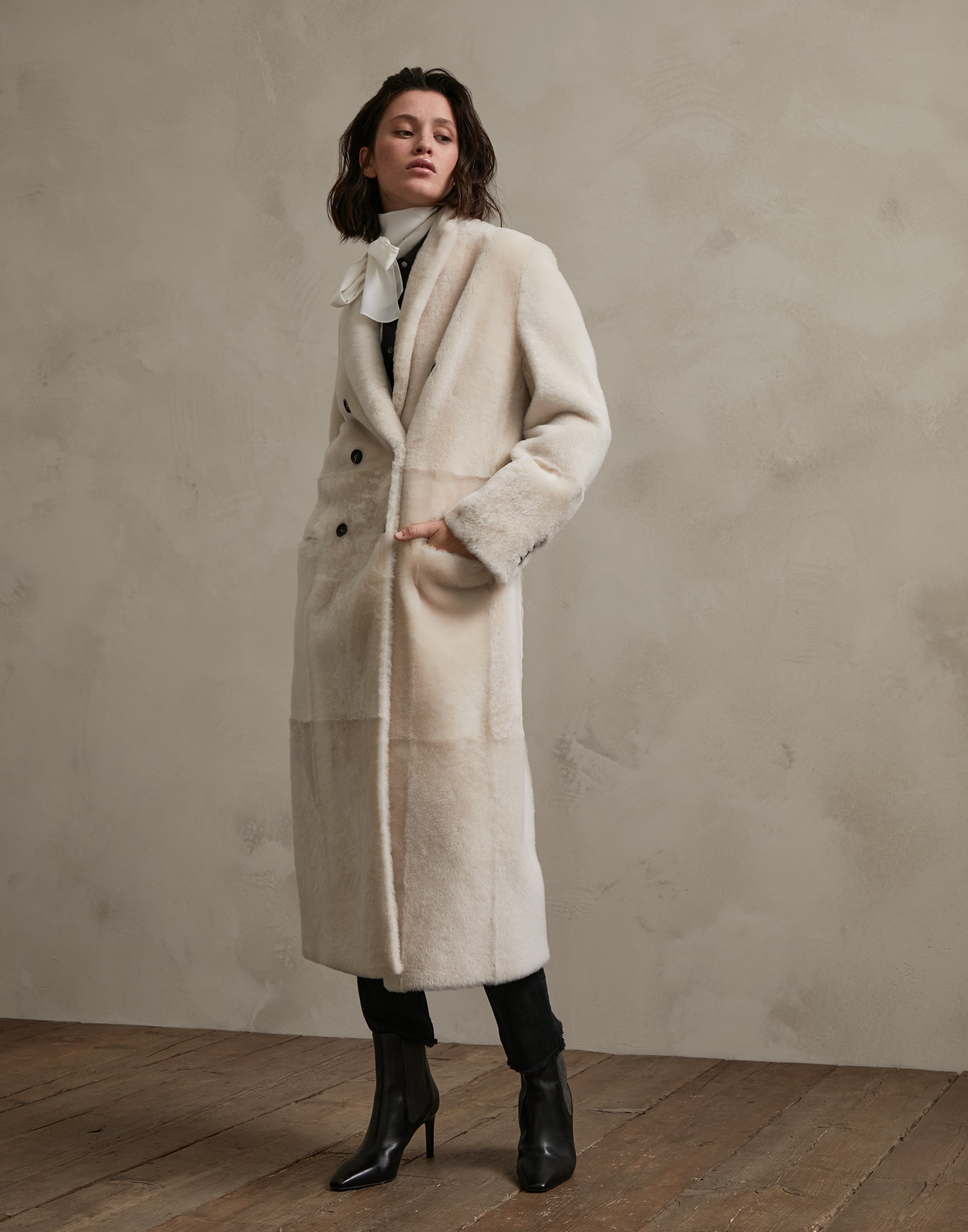 Leather White Woman 1 - Brunello Cucinelli