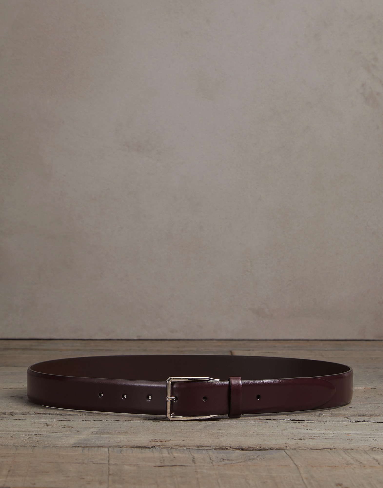Belt Burgundy Man 0 - Brunello Cucinelli