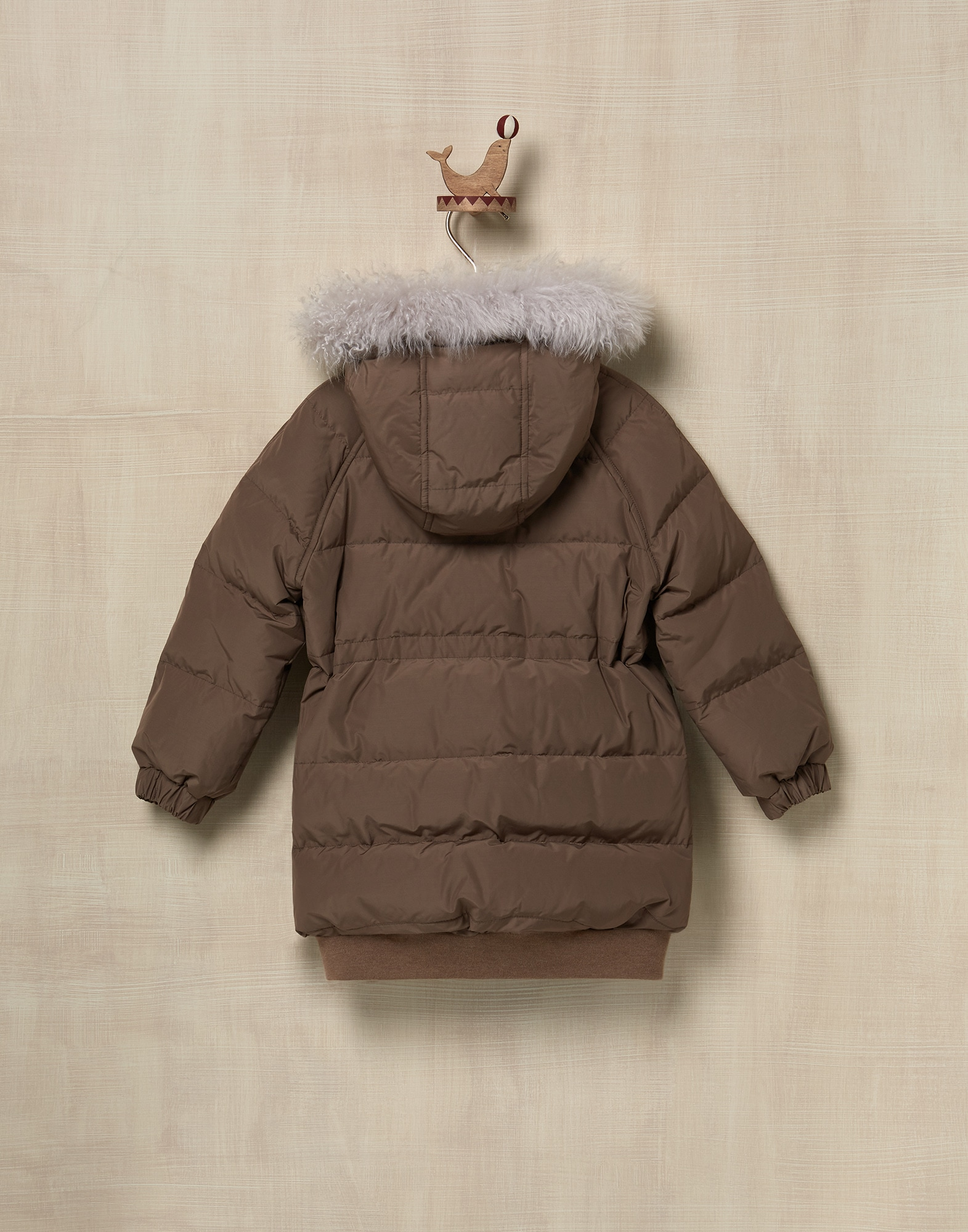 Down Jacket Brown Girl 1 - Brunello Cucinelli