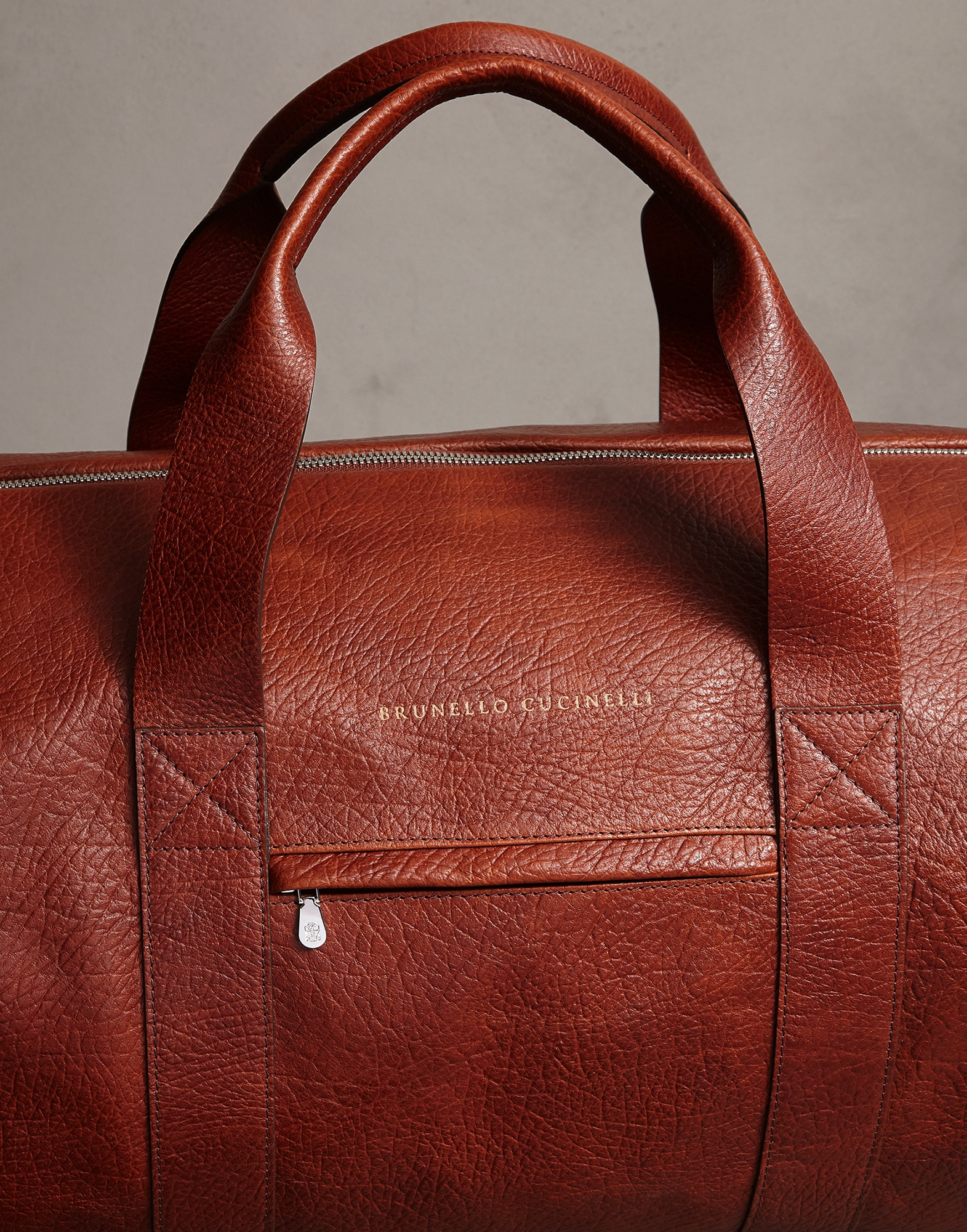Leisure Bag Cognac Man 2 - Brunello Cucinelli