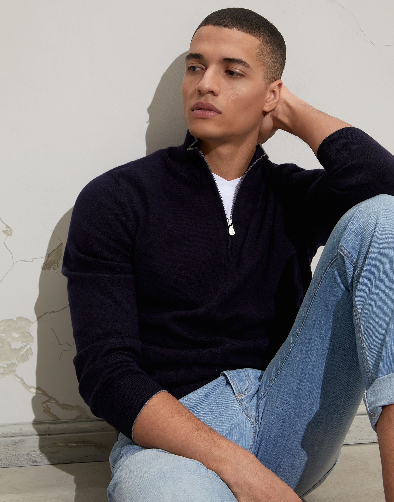 Zip Neck Sweater - Editorial view