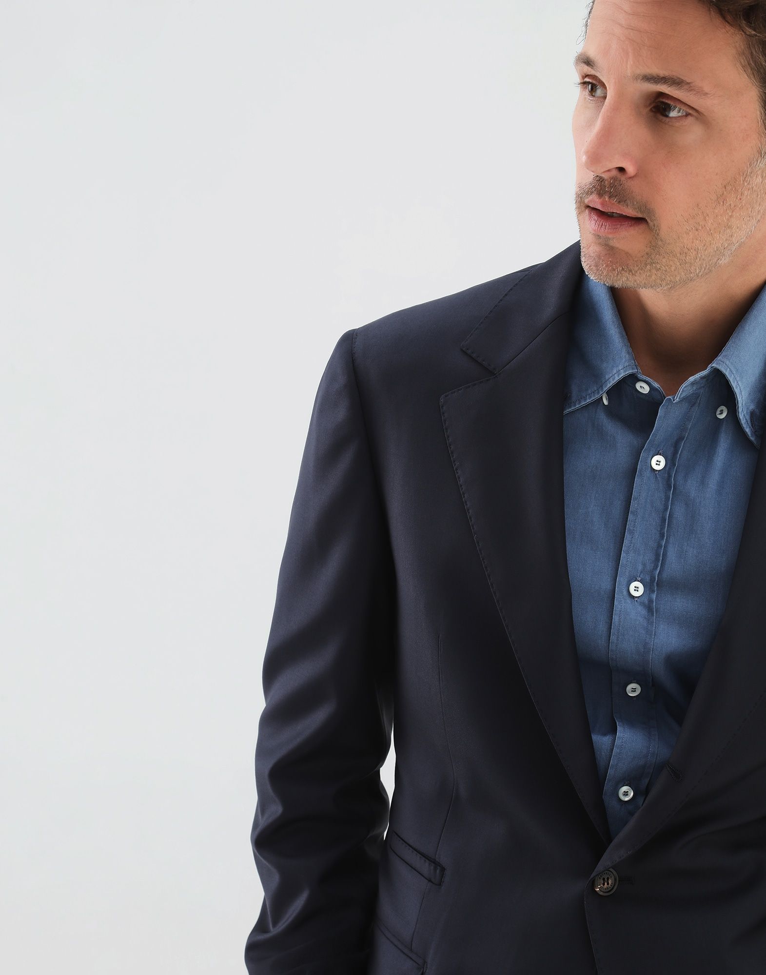 Single Breasted Blazer Navy Blue Man 2 - Brunello Cucinelli