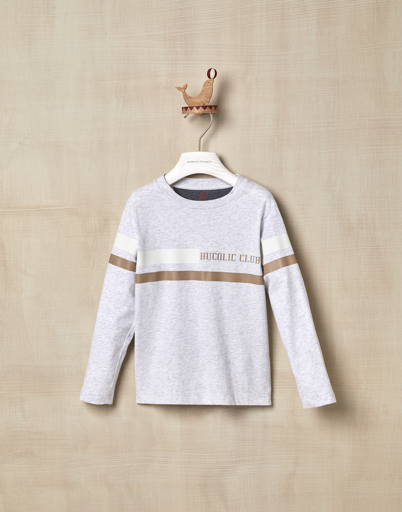 T-Shirt Pearl Grey Boy 0 - Brunello Cucinelli