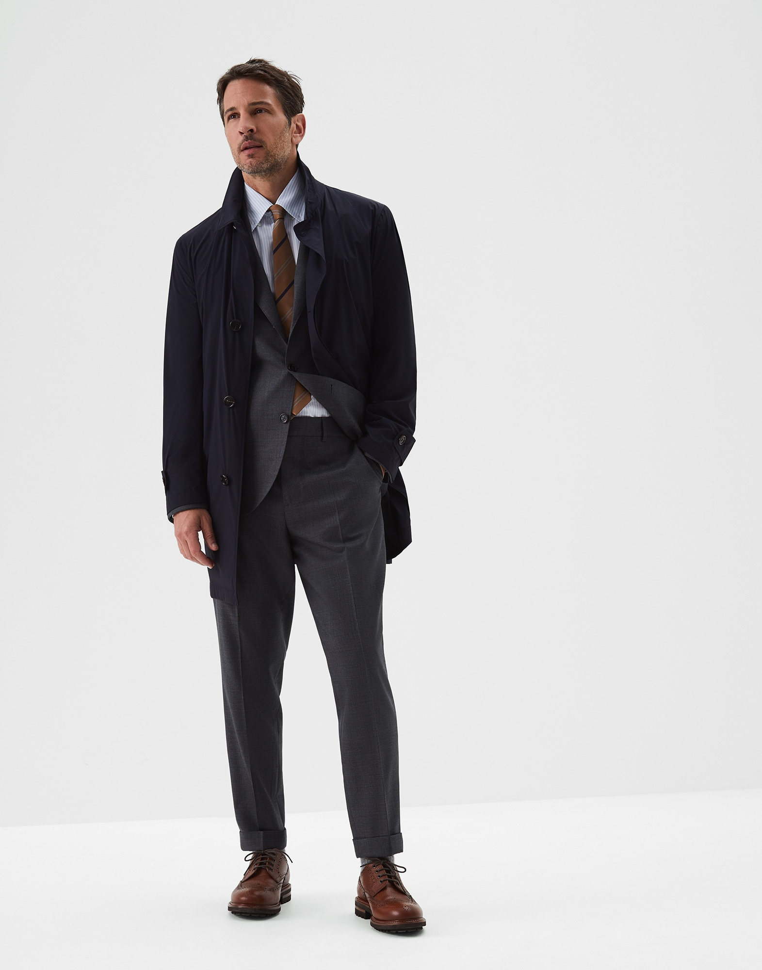 Single Breasted Blazer Dark Grey Man 3 - Brunello Cucinelli