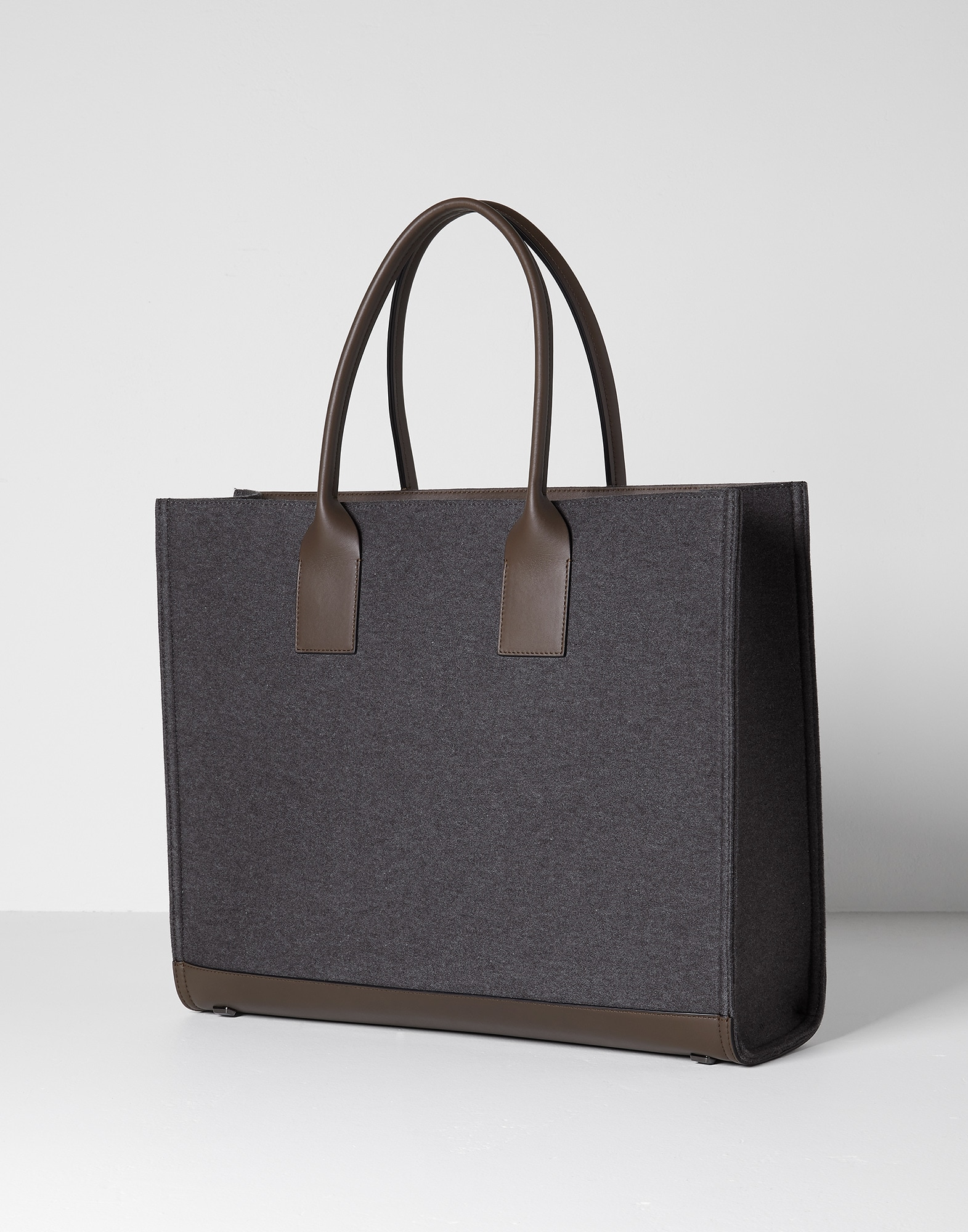 Shopper Bag Dark Grey Woman 1 - Brunello Cucinelli