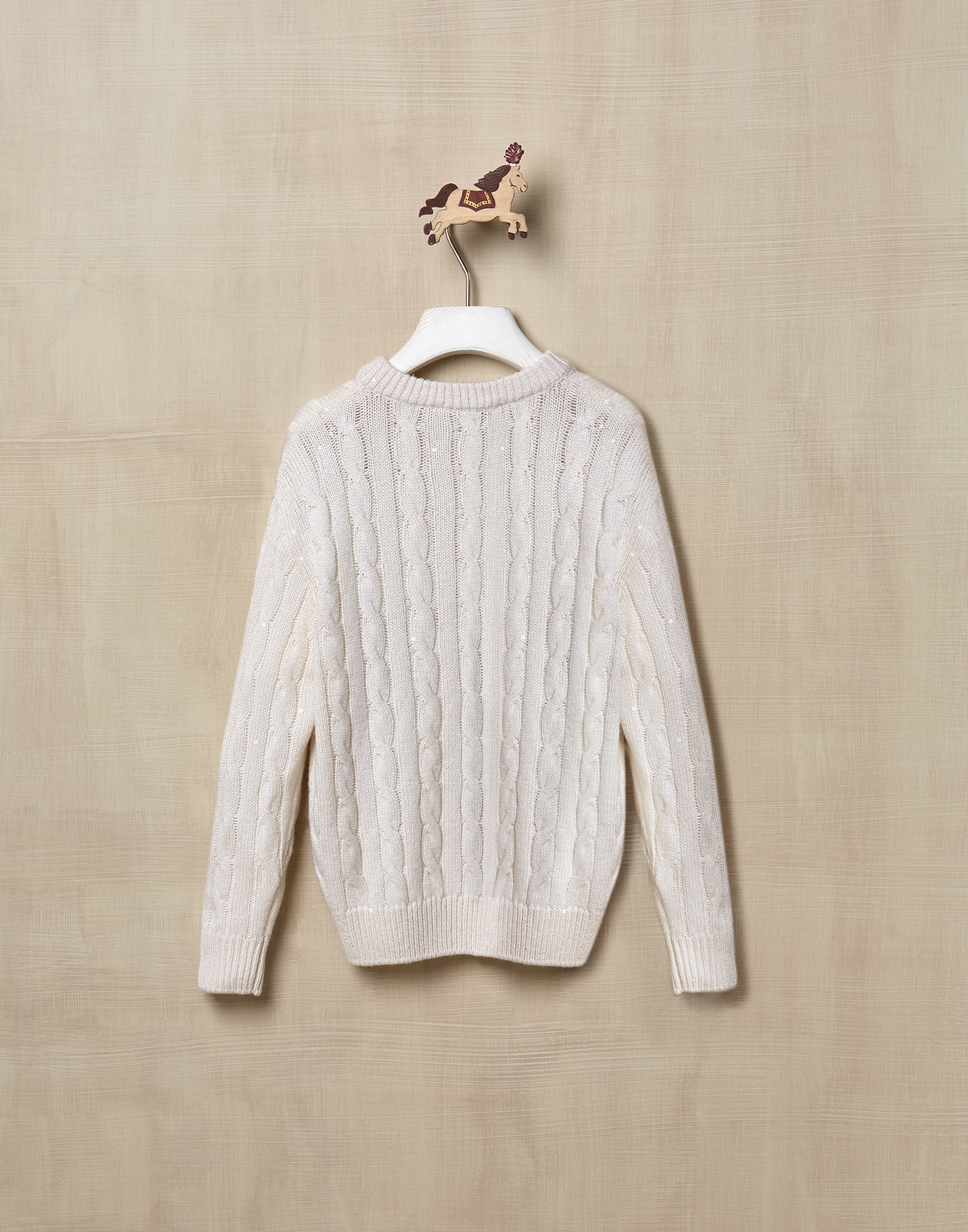 Crewneck Sweater White Girl 2 - Brunello Cucinelli