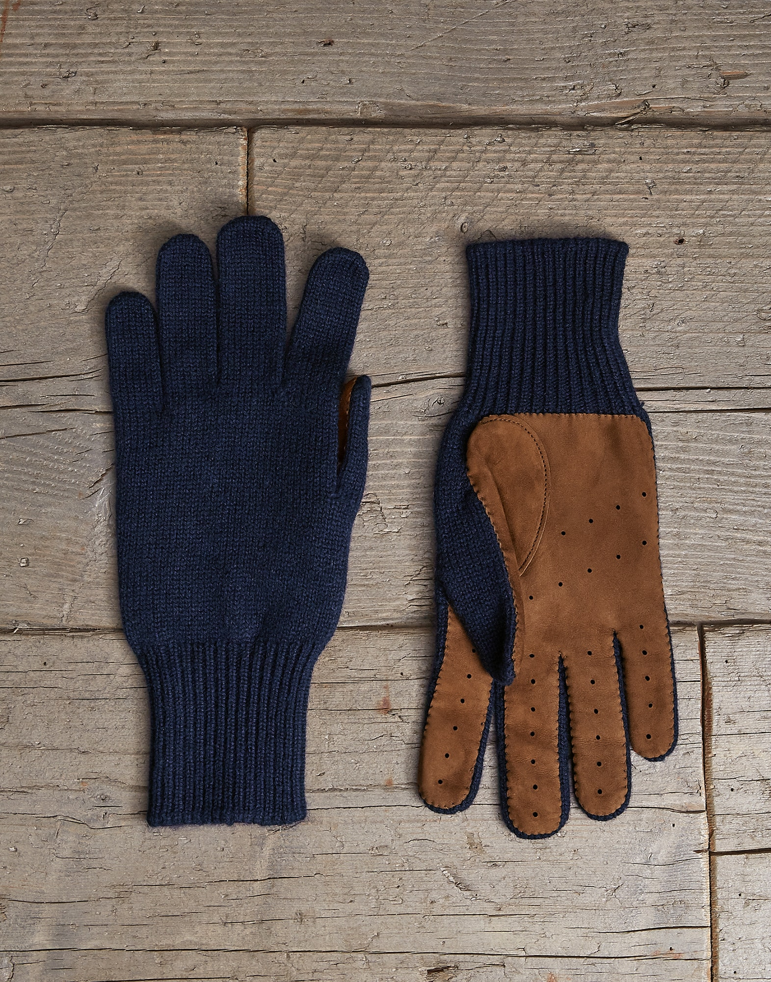 Gloves Navy Blue Man 0 - Brunello Cucinelli