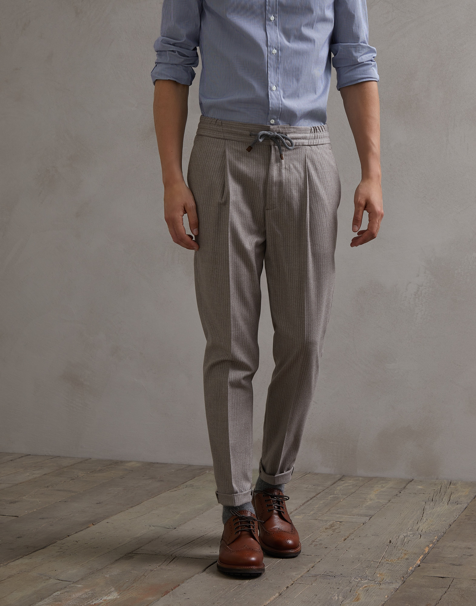 Trousers Brown Man 0 - Brunello Cucinelli