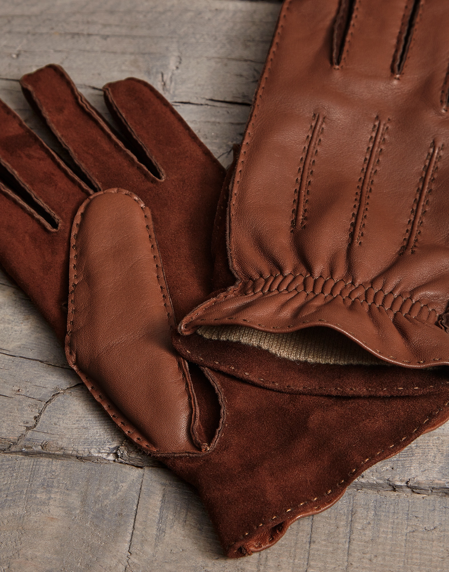 Gloves Brown Man 2 - Brunello Cucinelli