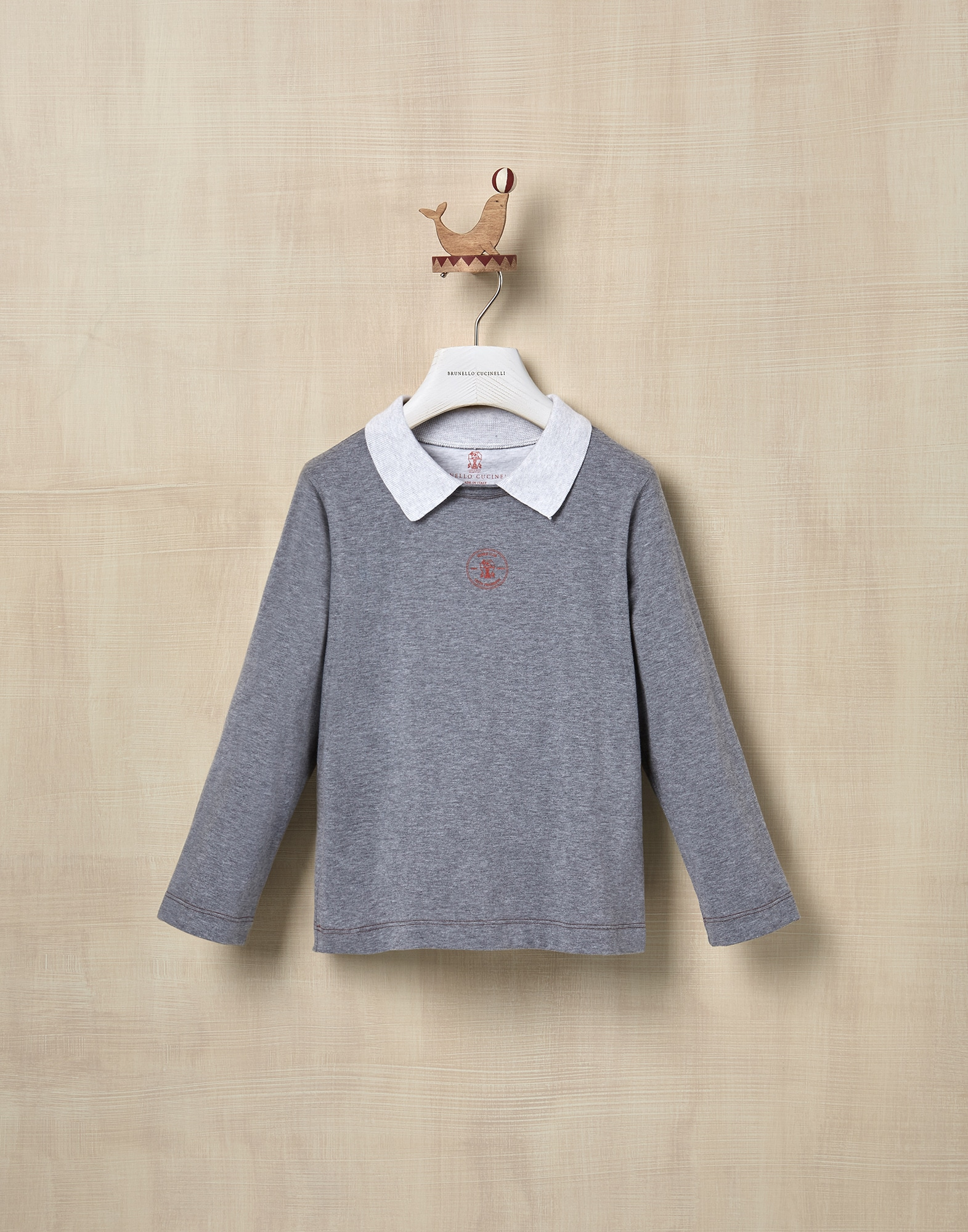 T-Shirt Medium Grey Boy 1 - Brunello Cucinelli
