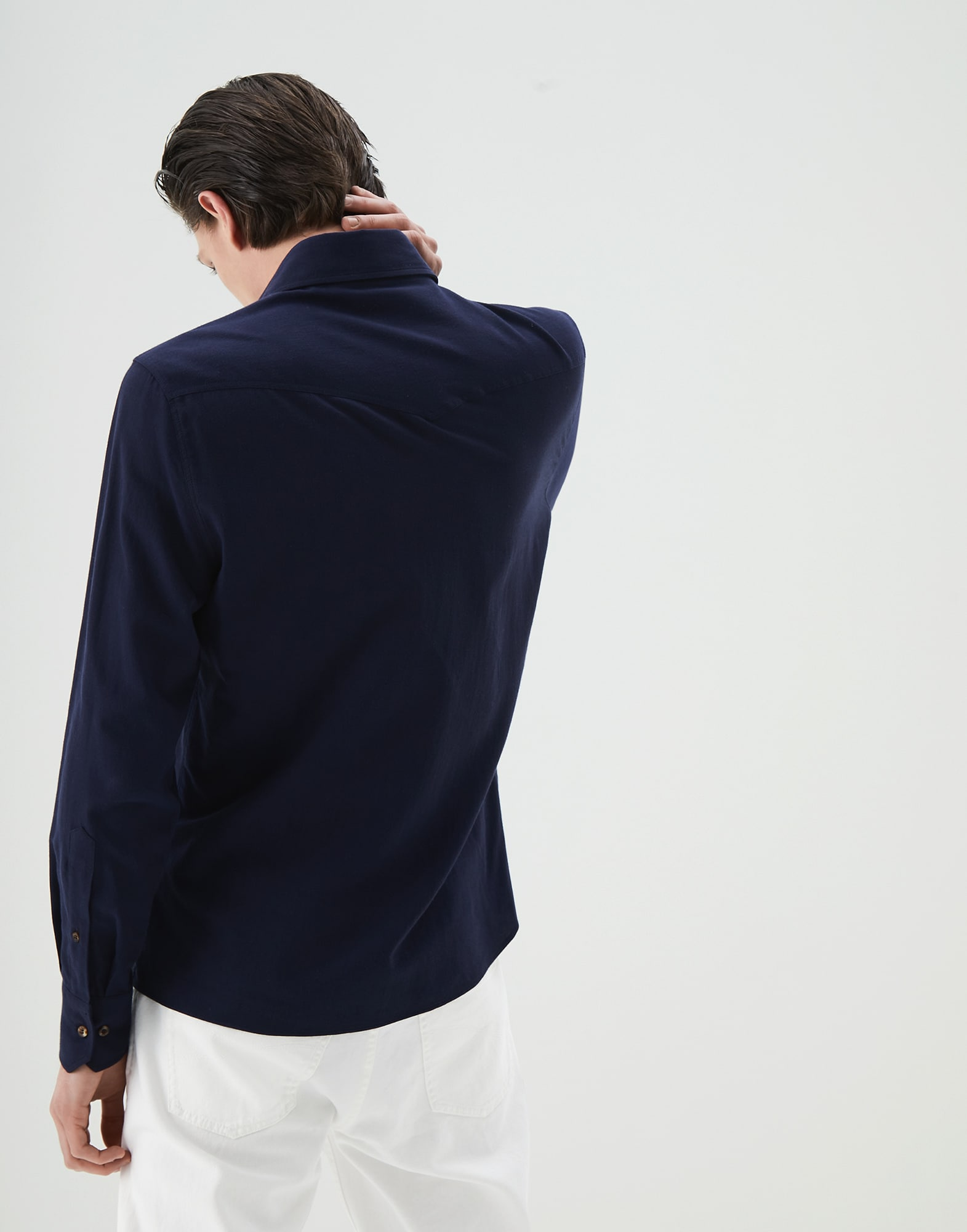 Casual Shirt Blue Man 2 - Brunello Cucinelli
