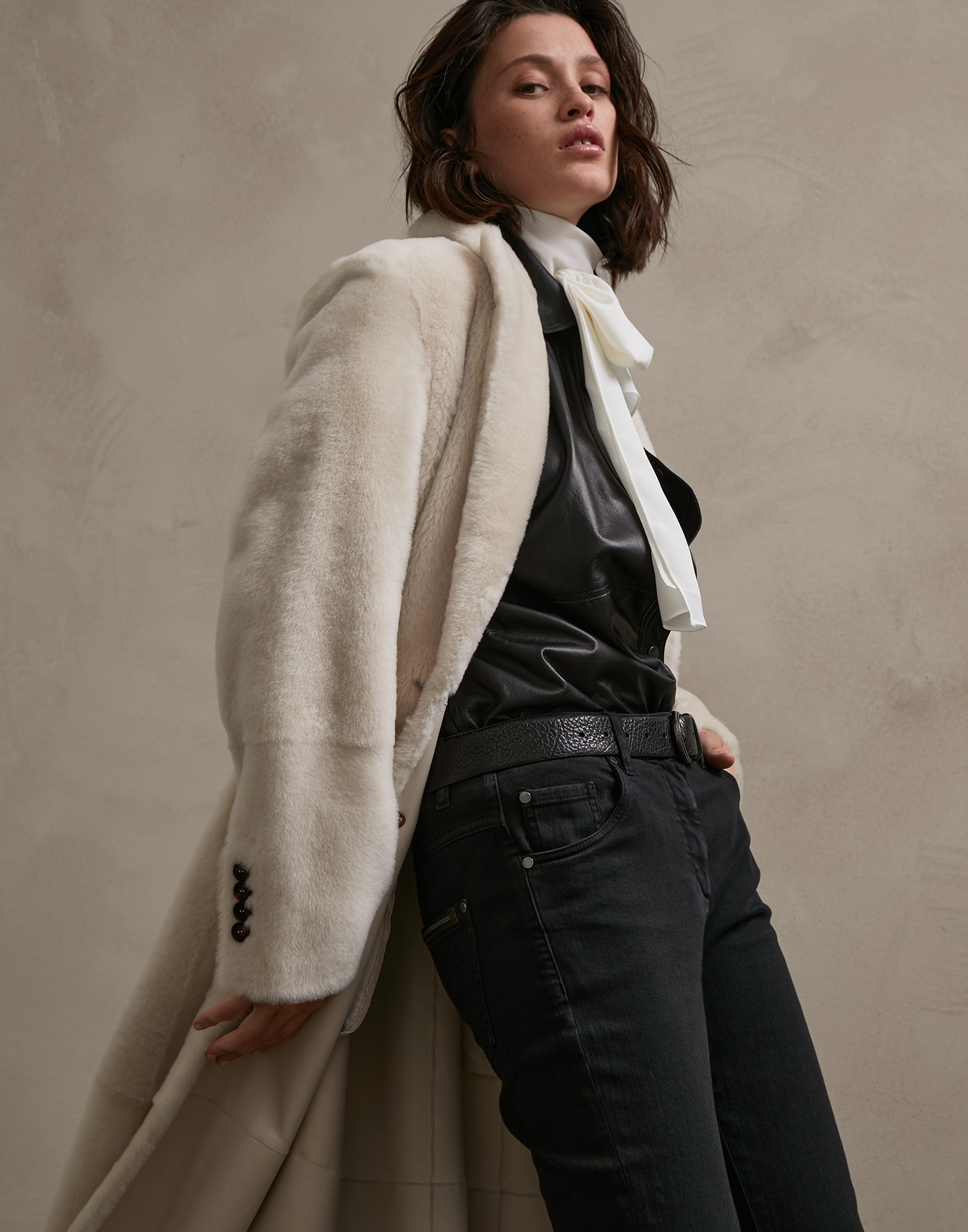 Leather White Woman 0 - Brunello Cucinelli