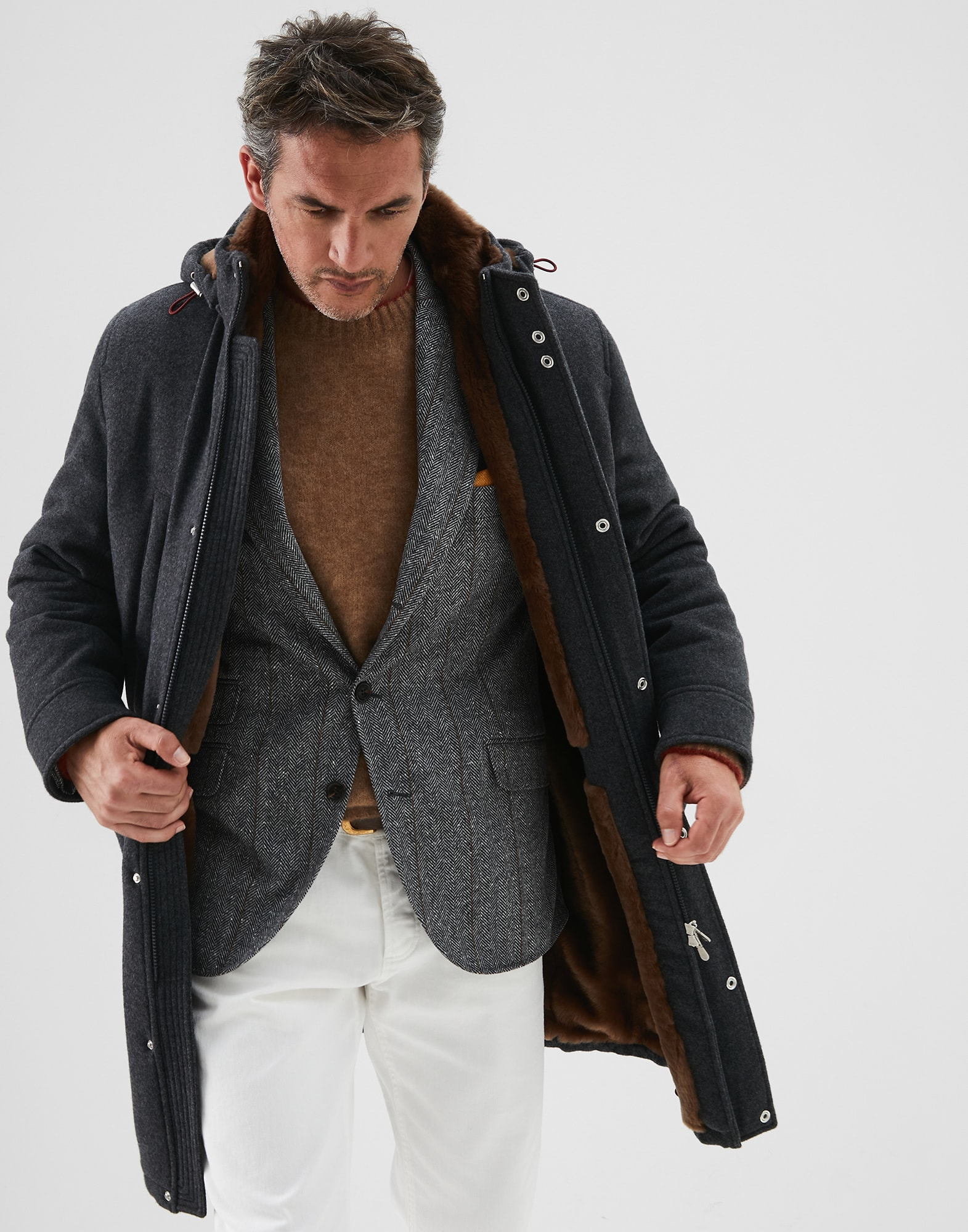 Parka Plomb Homme 0 - Brunello Cucinelli