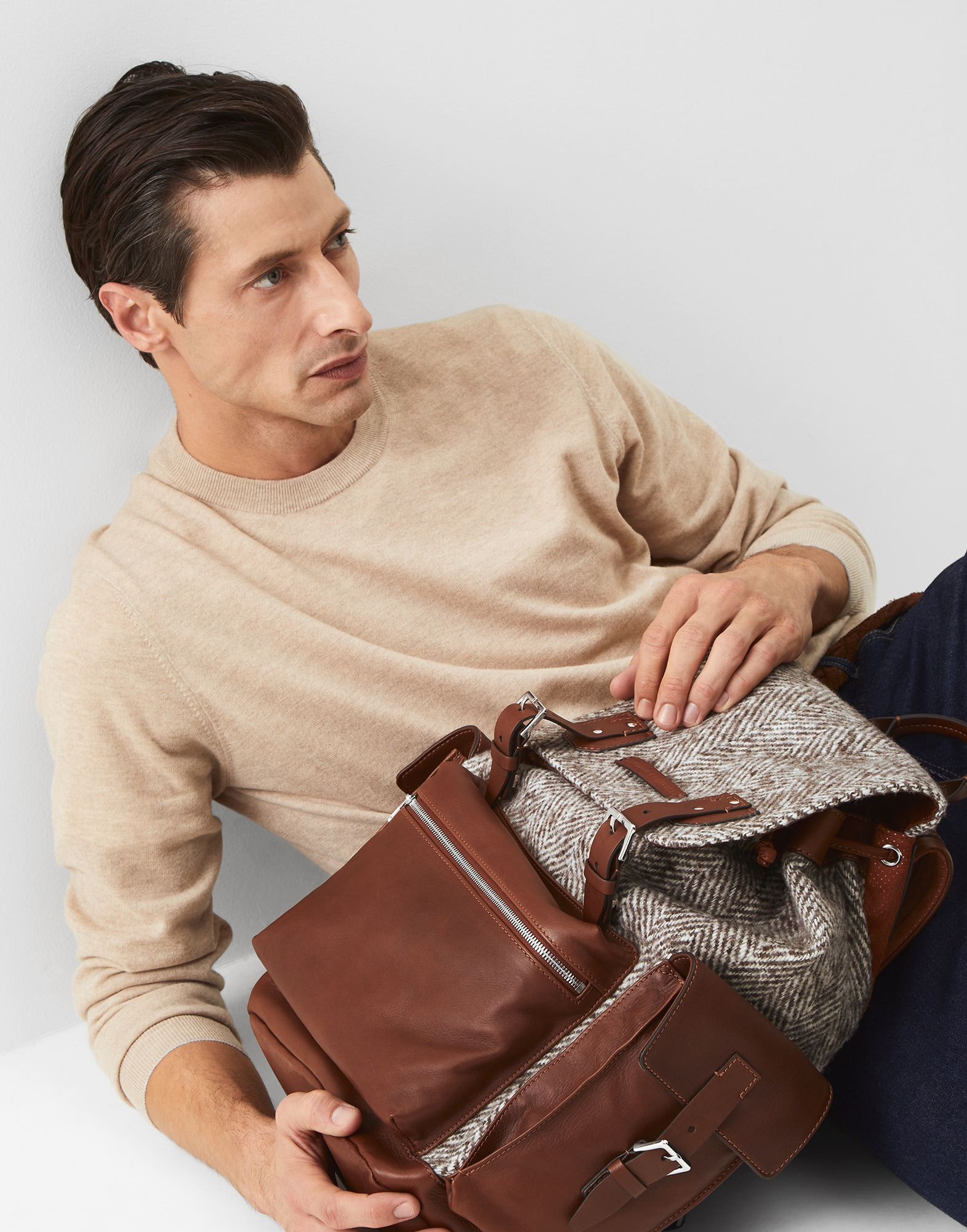 Backpack Brown Man 0 - Brunello Cucinelli