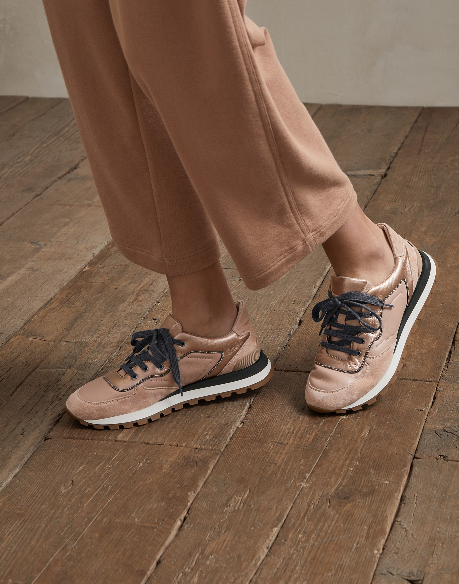 Sneakers Rose Gold Woman 4 - Brunello Cucinelli