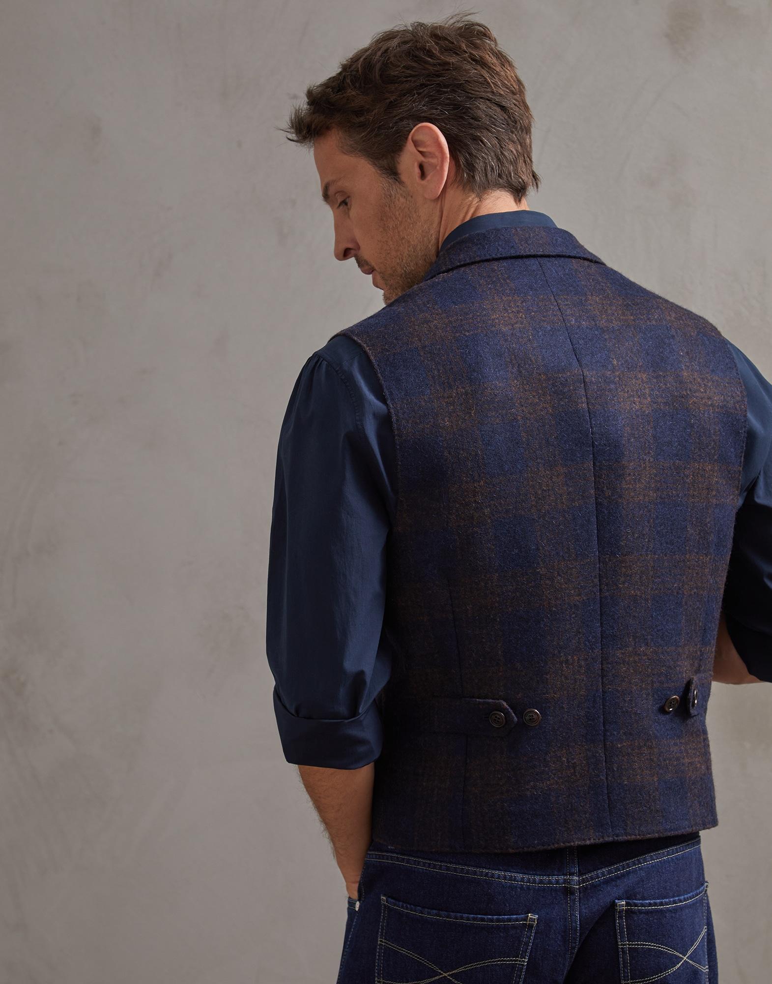 Vest Blue Man 1 - Brunello Cucinelli