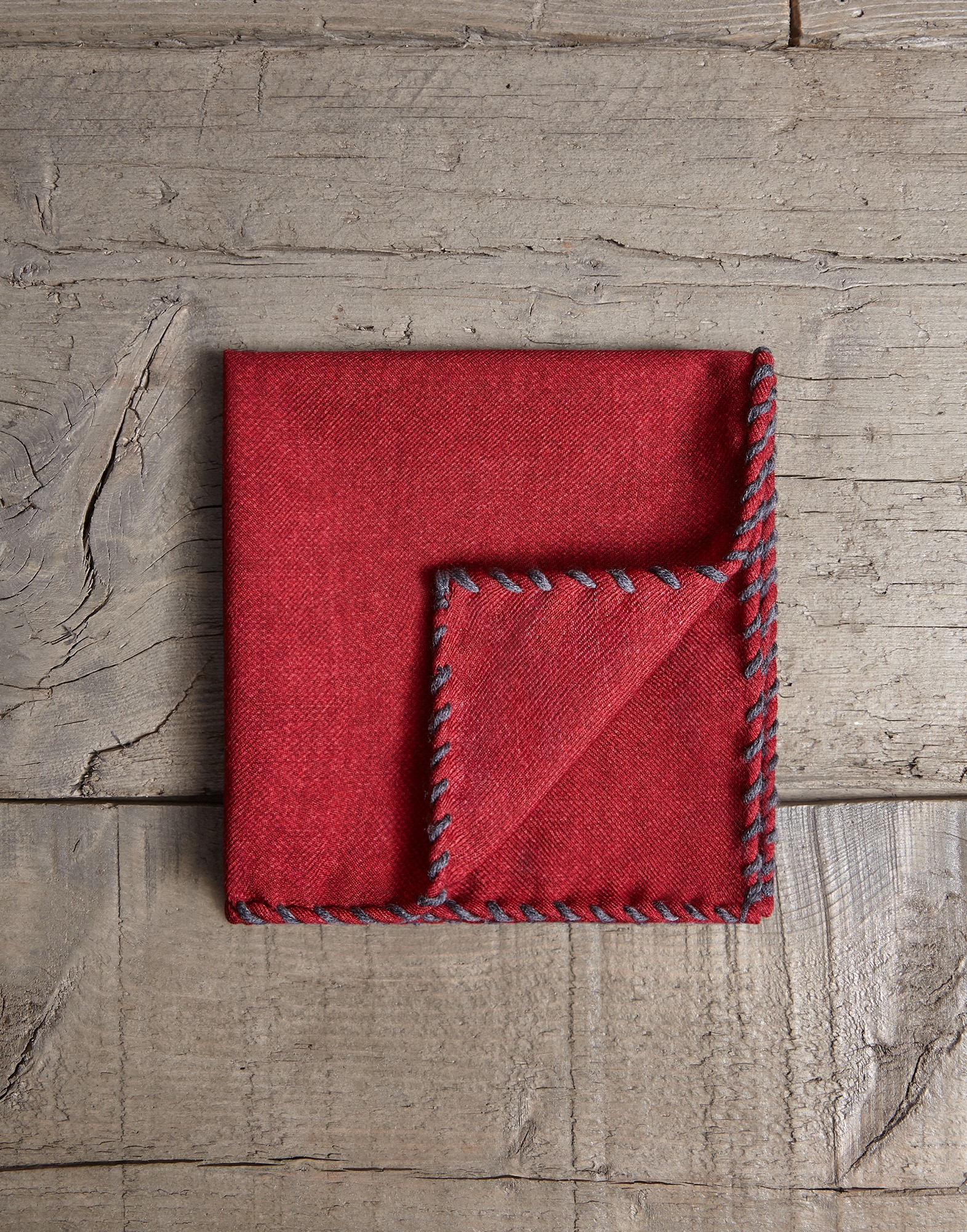 Pocket Square Ruby Man 0 - Brunello Cucinelli