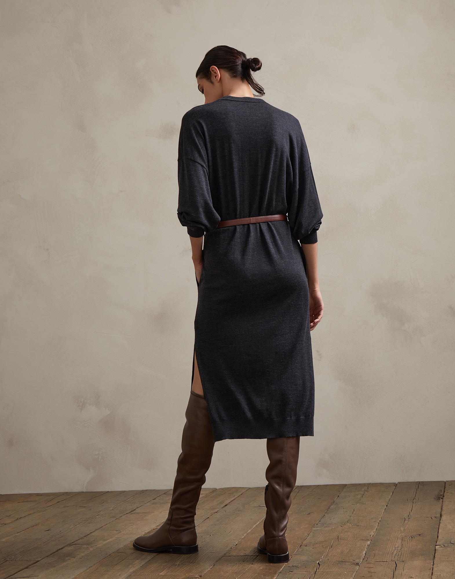 Dress Anthracite Woman 2 - Brunello Cucinelli