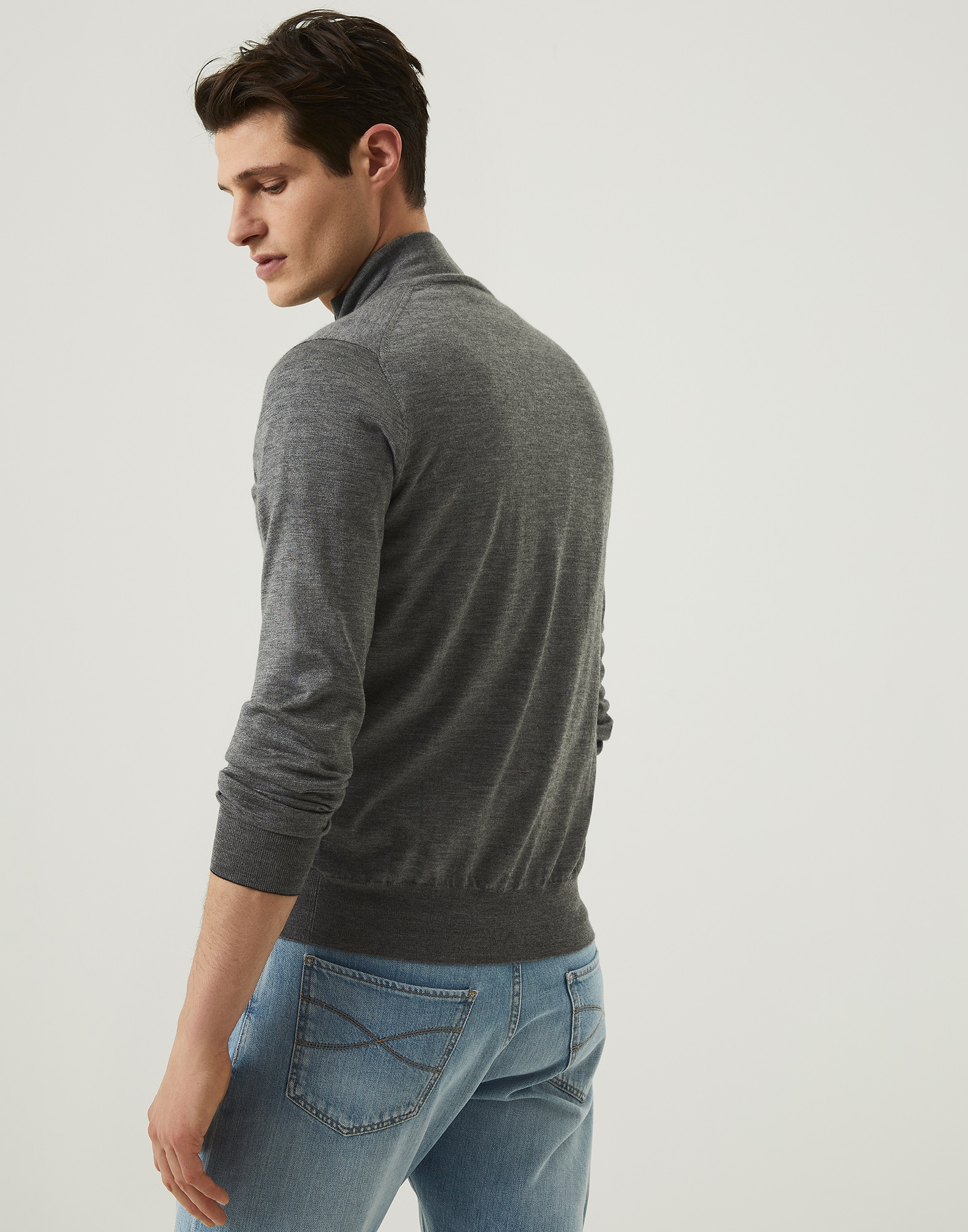 Zip-front Cardigan - Back view