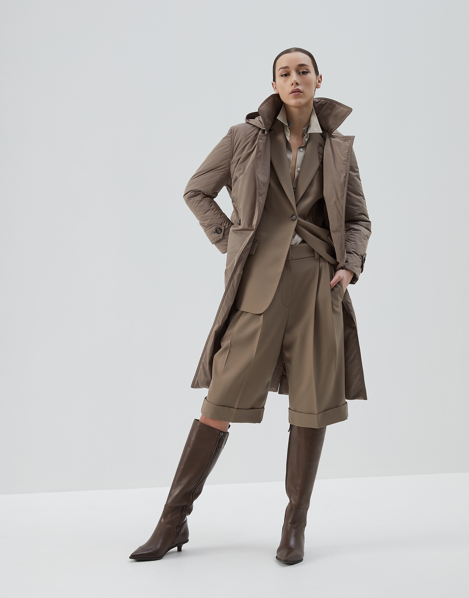 Blazer Brown Woman 3 - Brunello Cucinelli